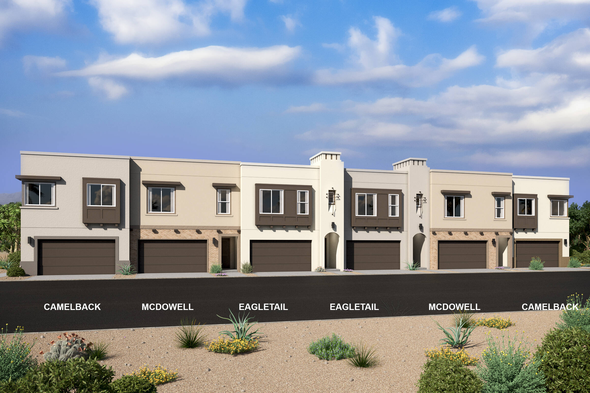 pinnacle at silverstone new scottsdale townhomes 6 plex