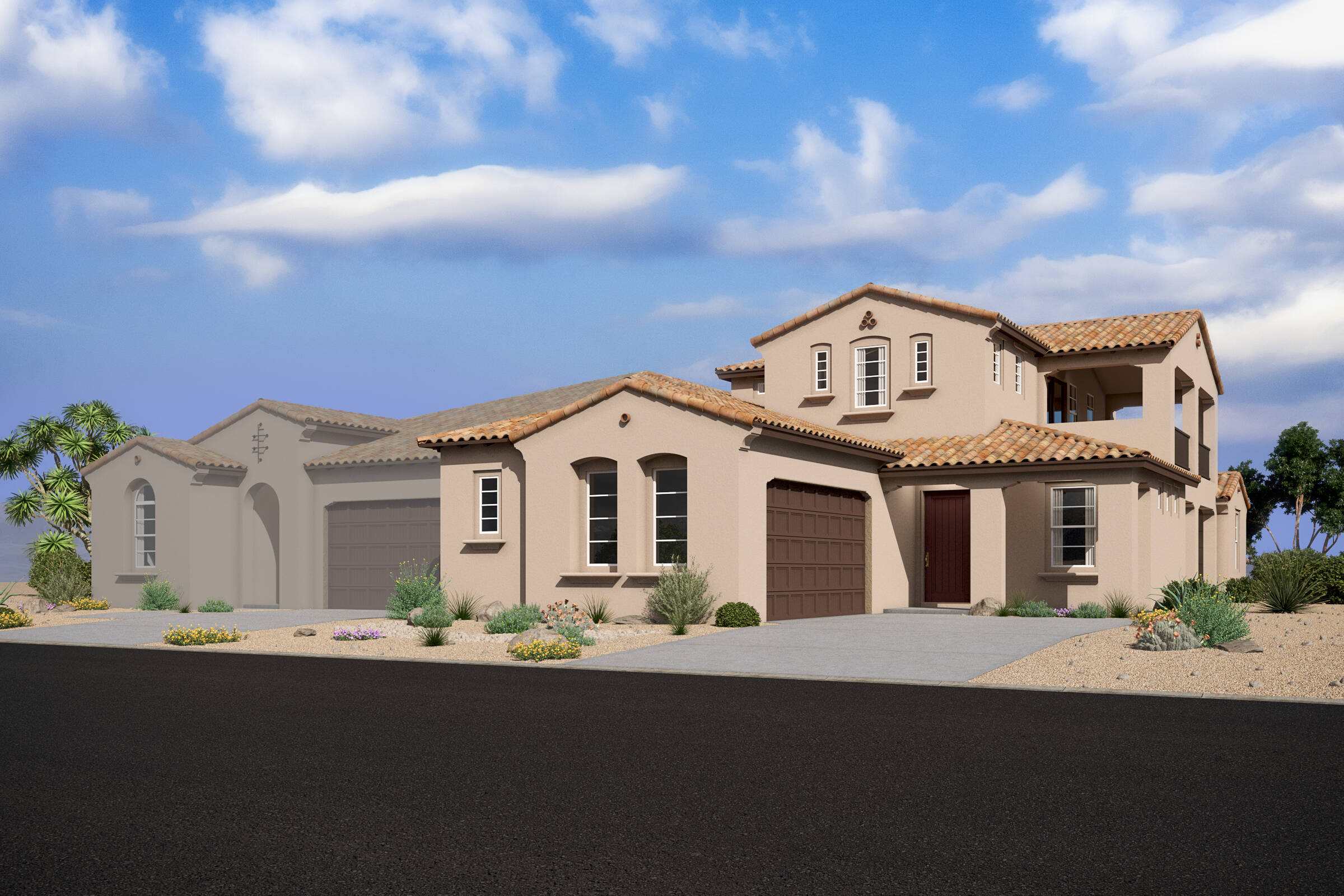 crest spanish colonial d new homes silverstone with capstone