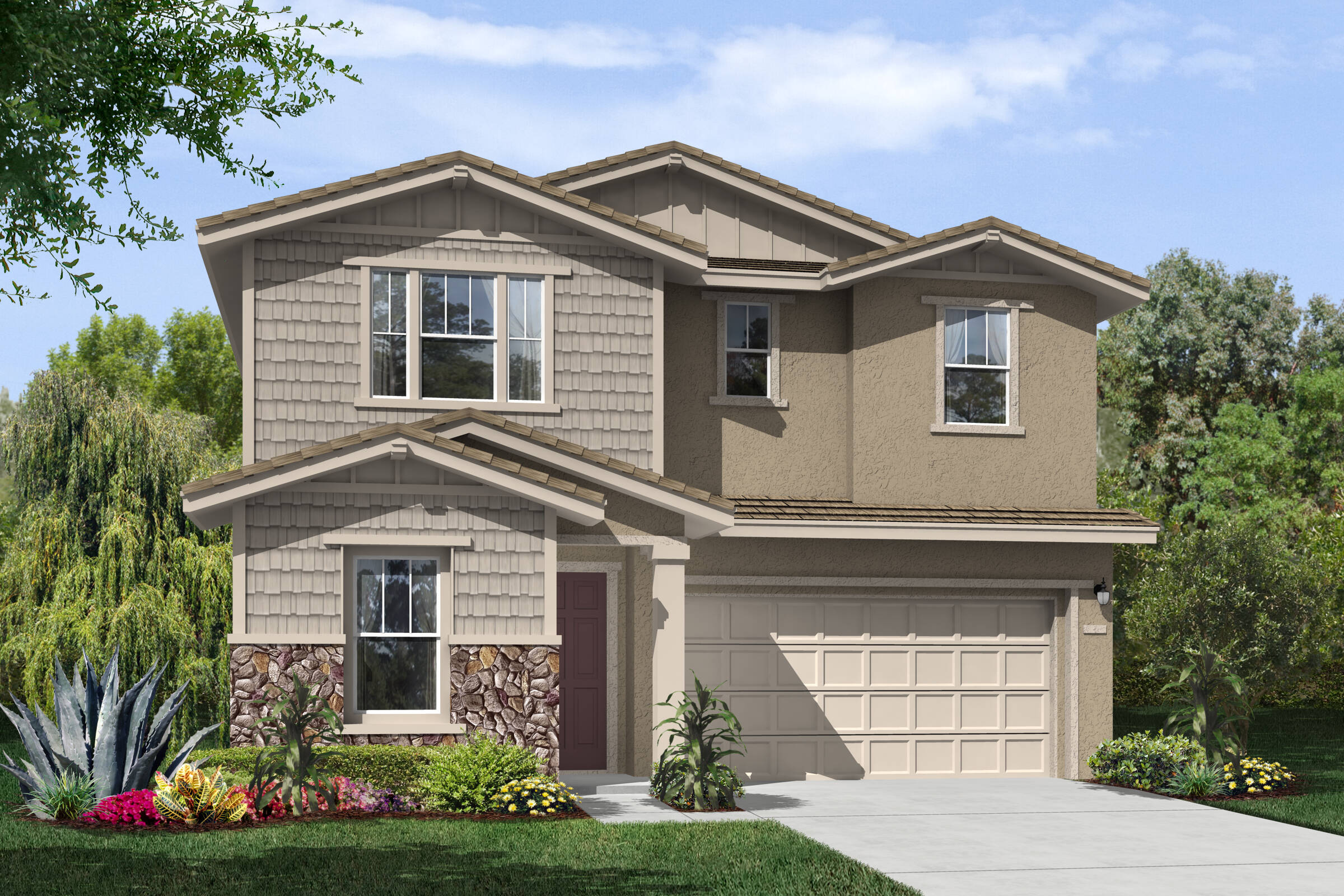 garden craftsman new homes hollister california