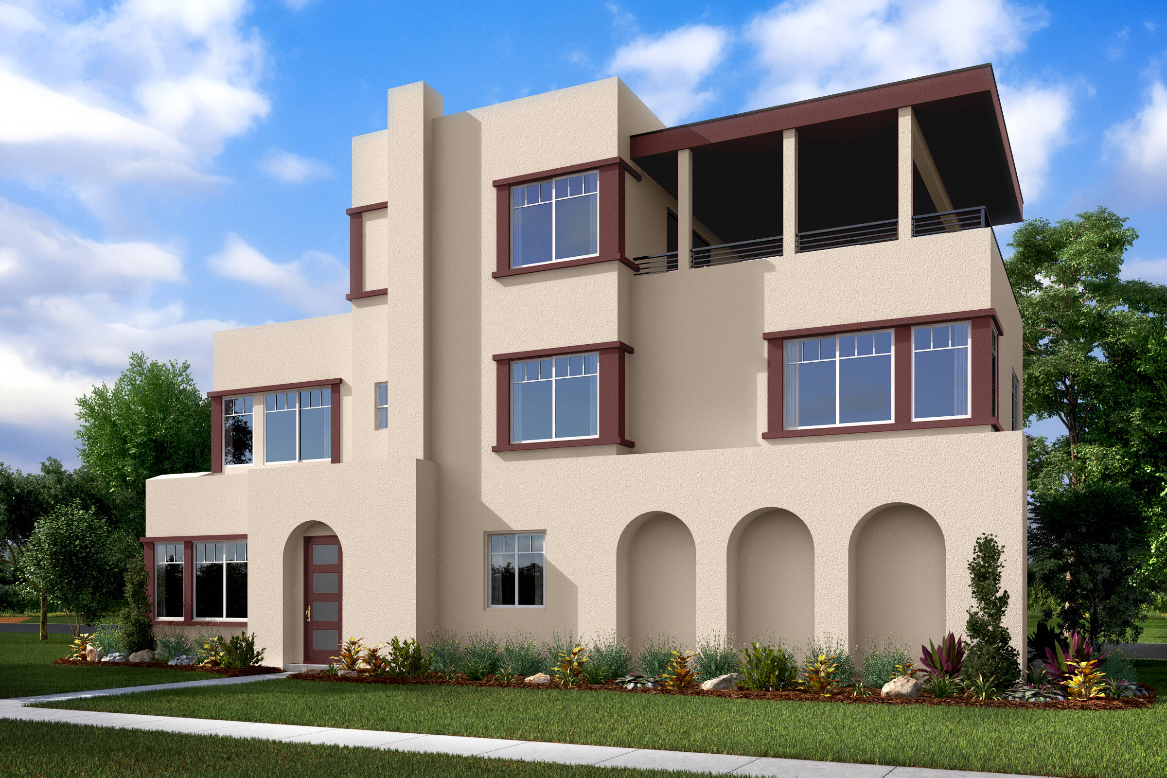 waverly contemporary spanish a new homes deco at cadence park