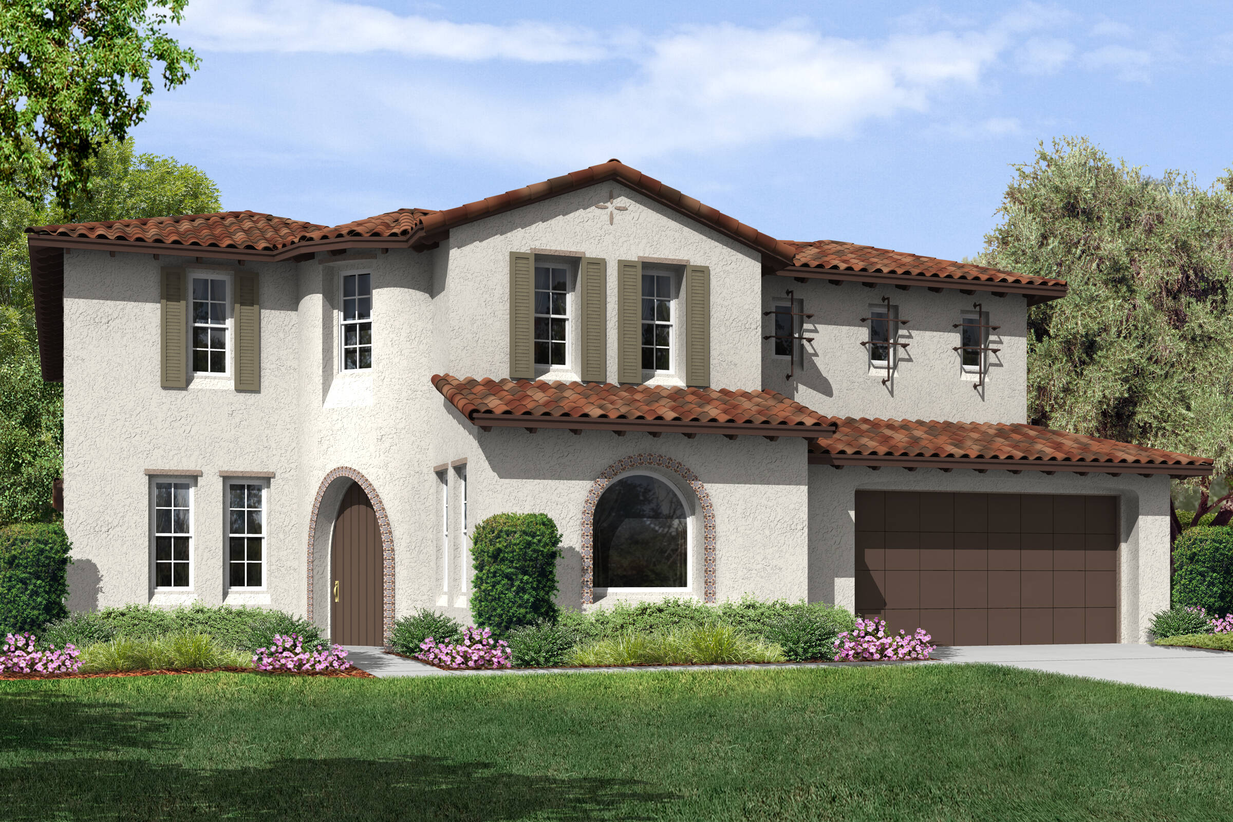 plan 1 belmont a spanish new homes estates collection at meridian hills california