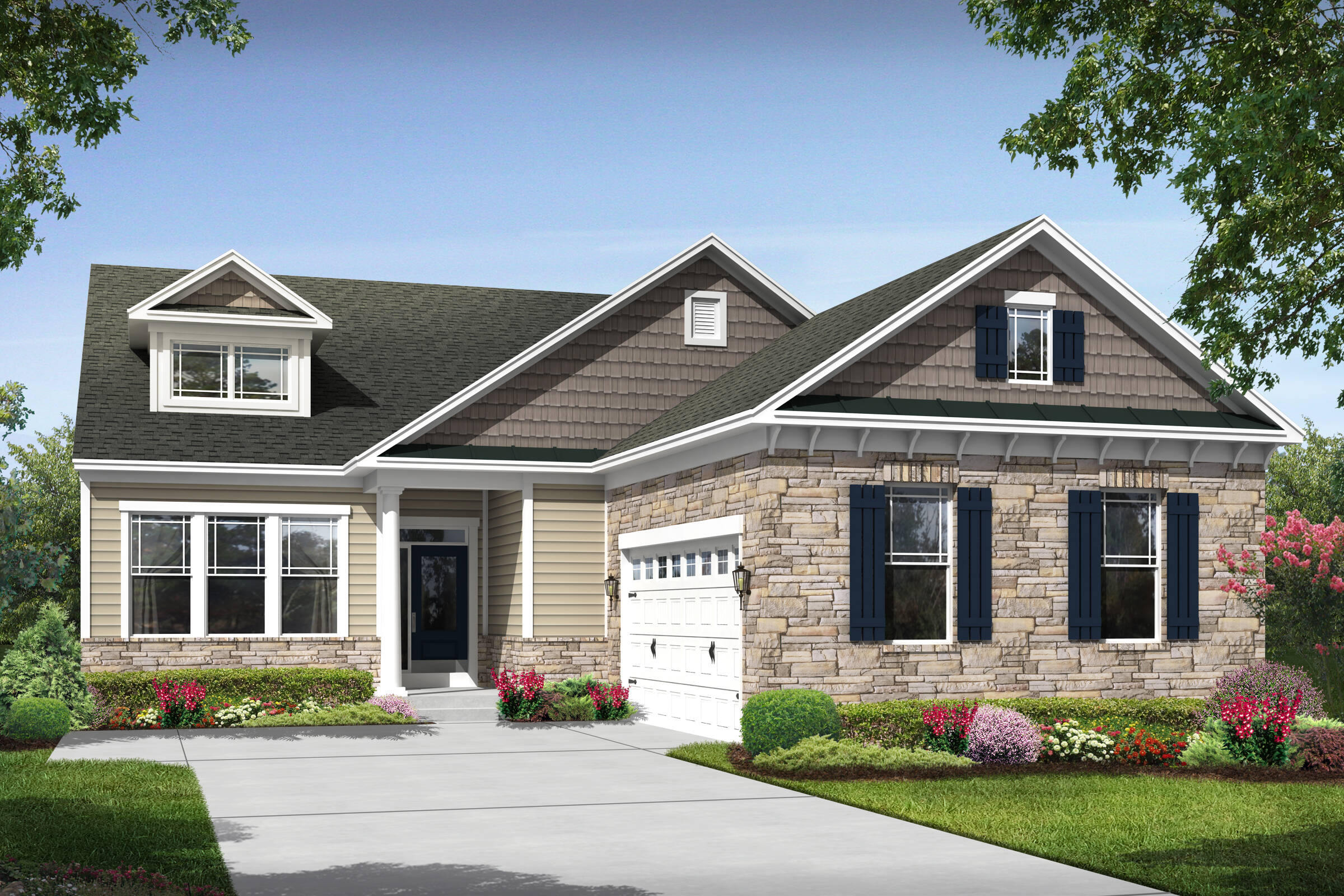 Lewes I stone elevation in ocean view delaware