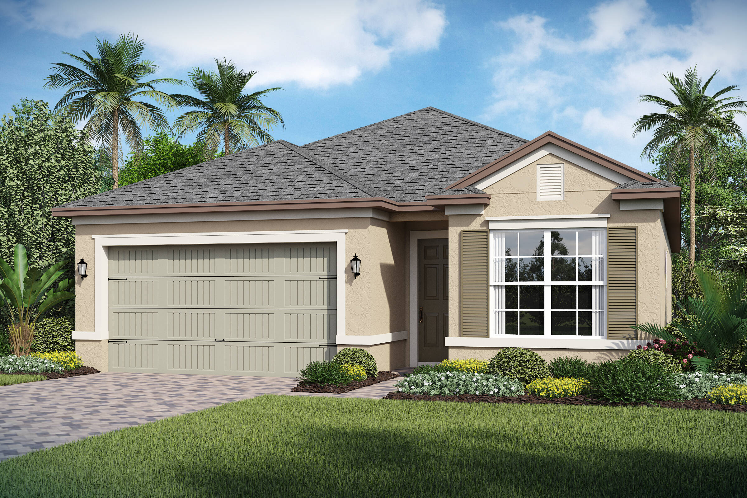 Dunmore-A-elev new homes in orlando