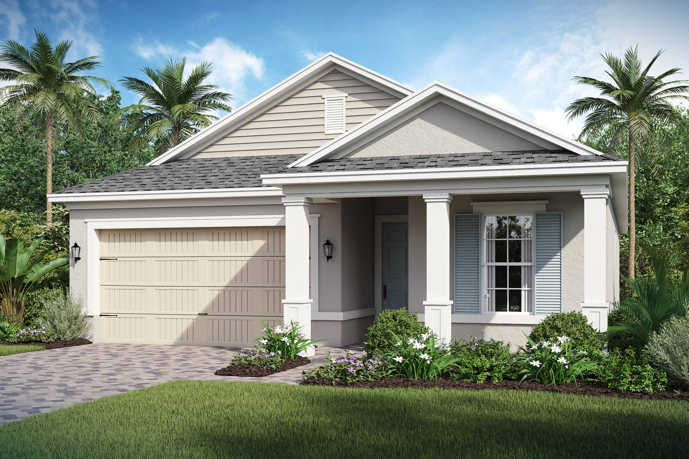 Dunmore-C-elev new homes in orlando
