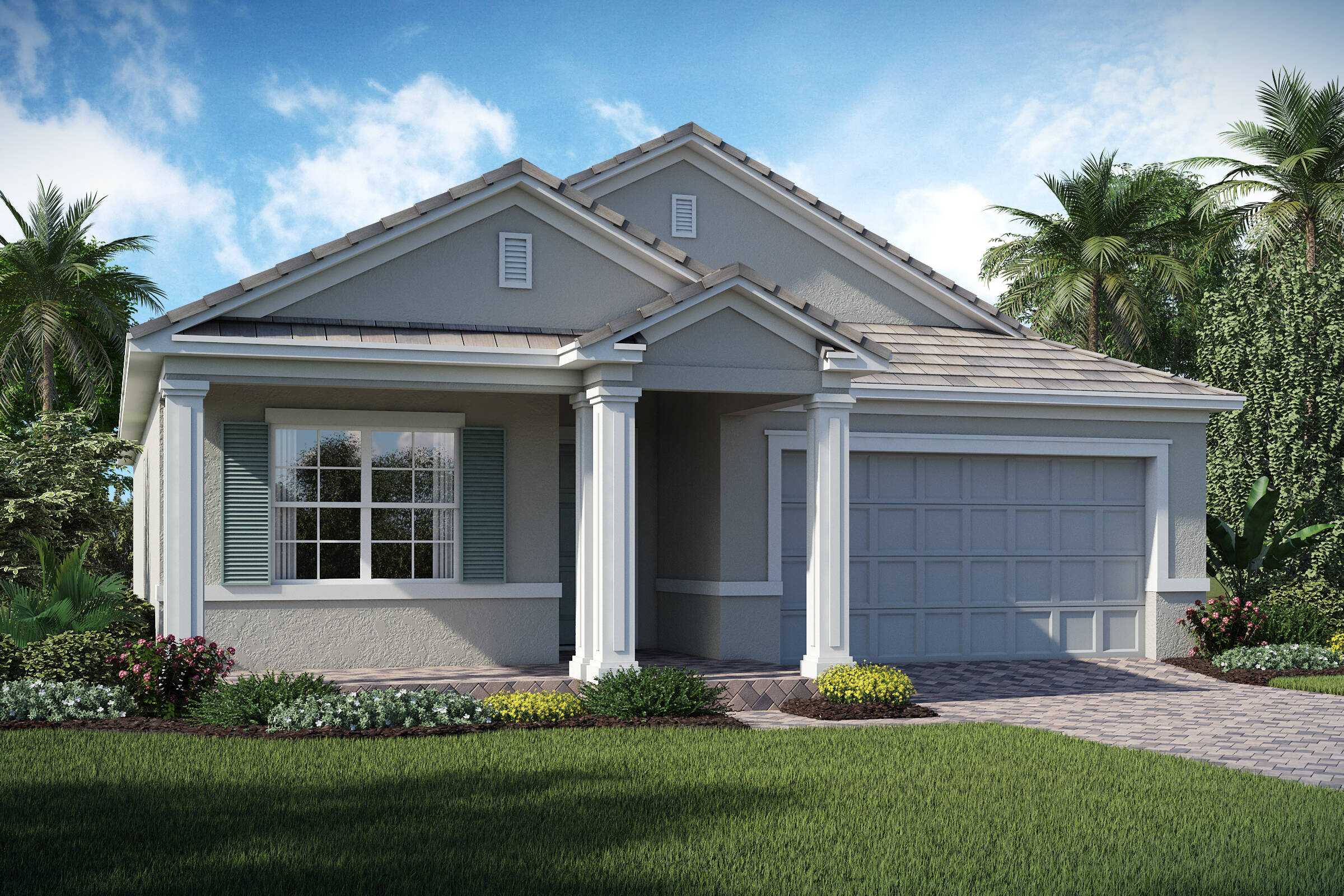 Sherrington D exterior lake florence preserve new homes in orlando florida