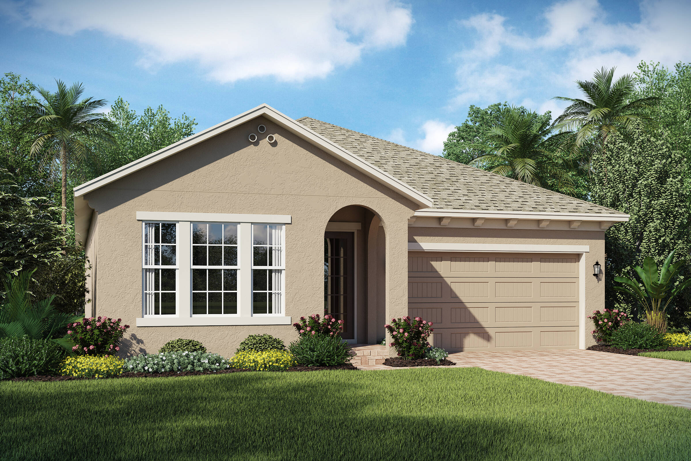 Tompkins A elev new homes in orlando florida