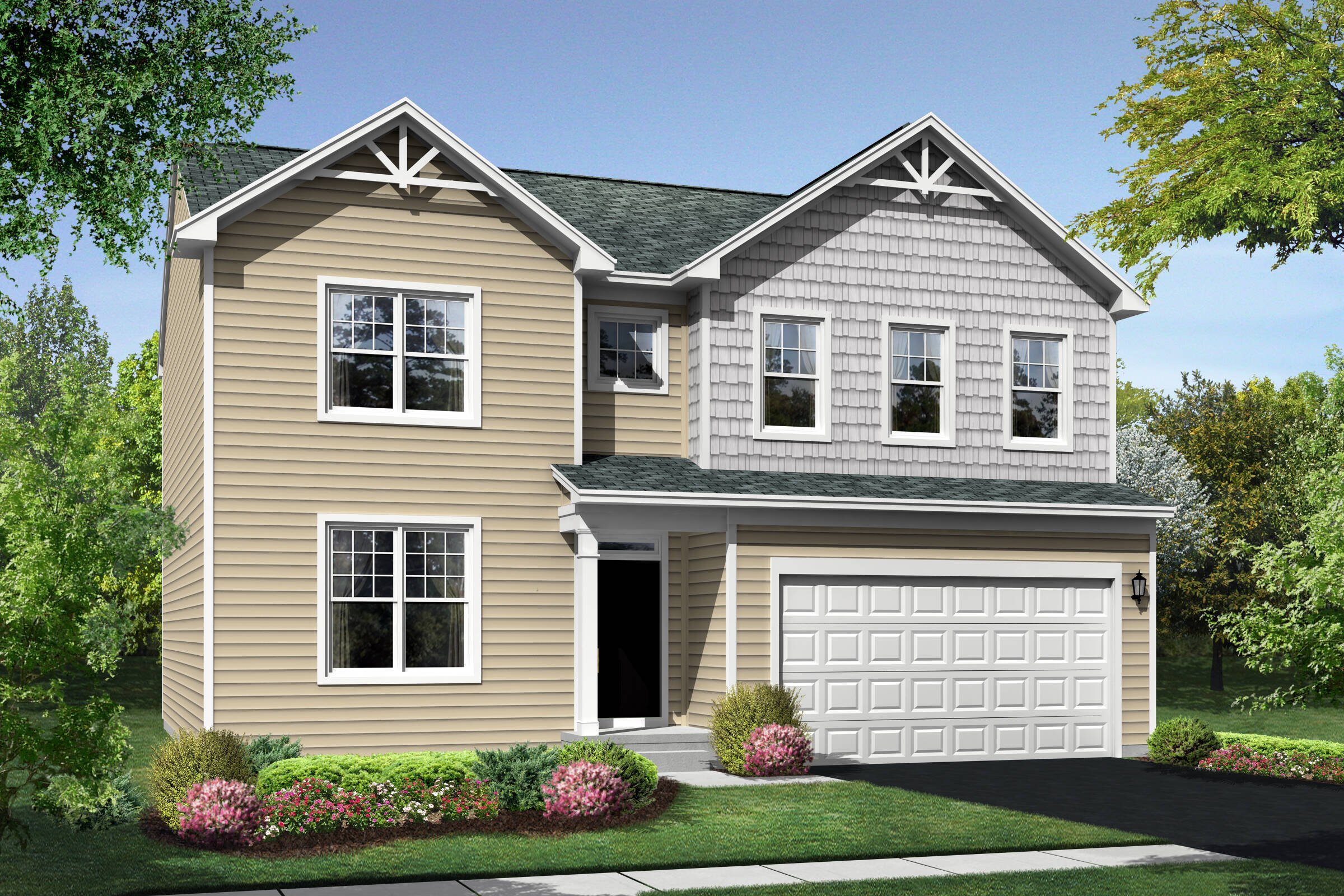 Hanover DS elevation at Orchard Meadows