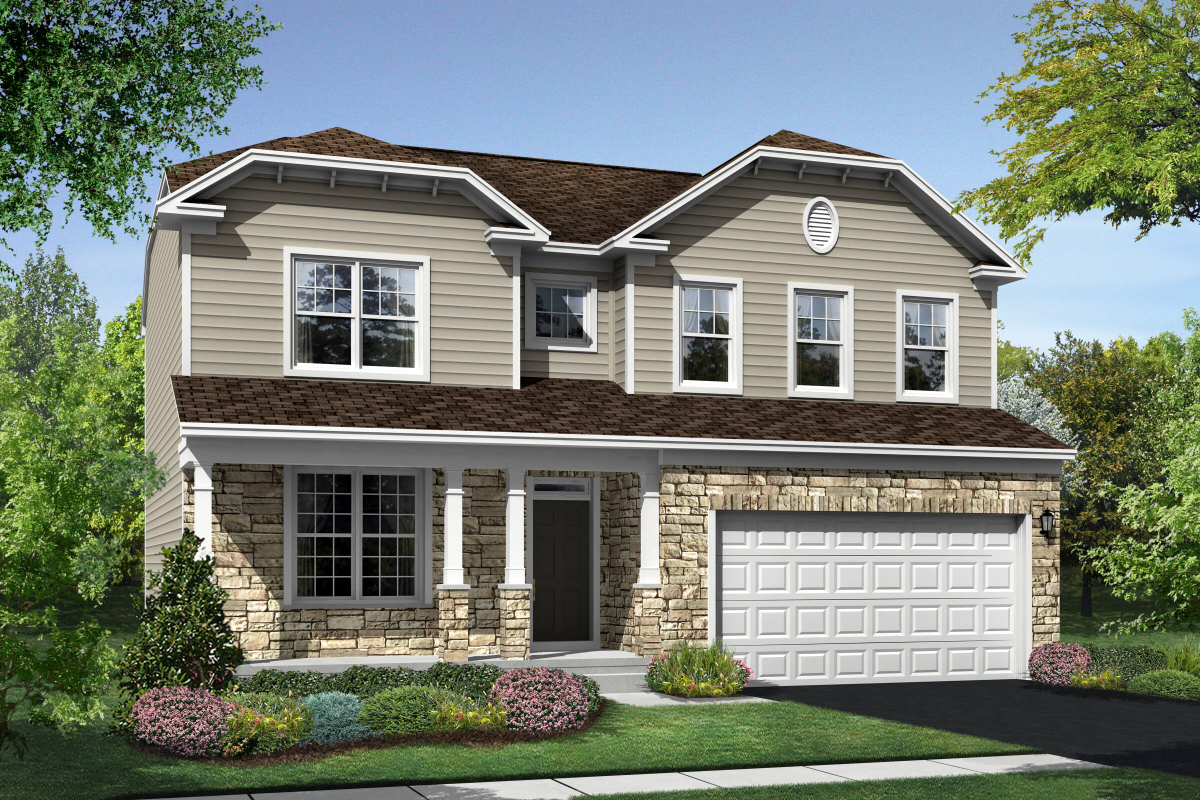 Hanover FT elevation at Orchard Meadows