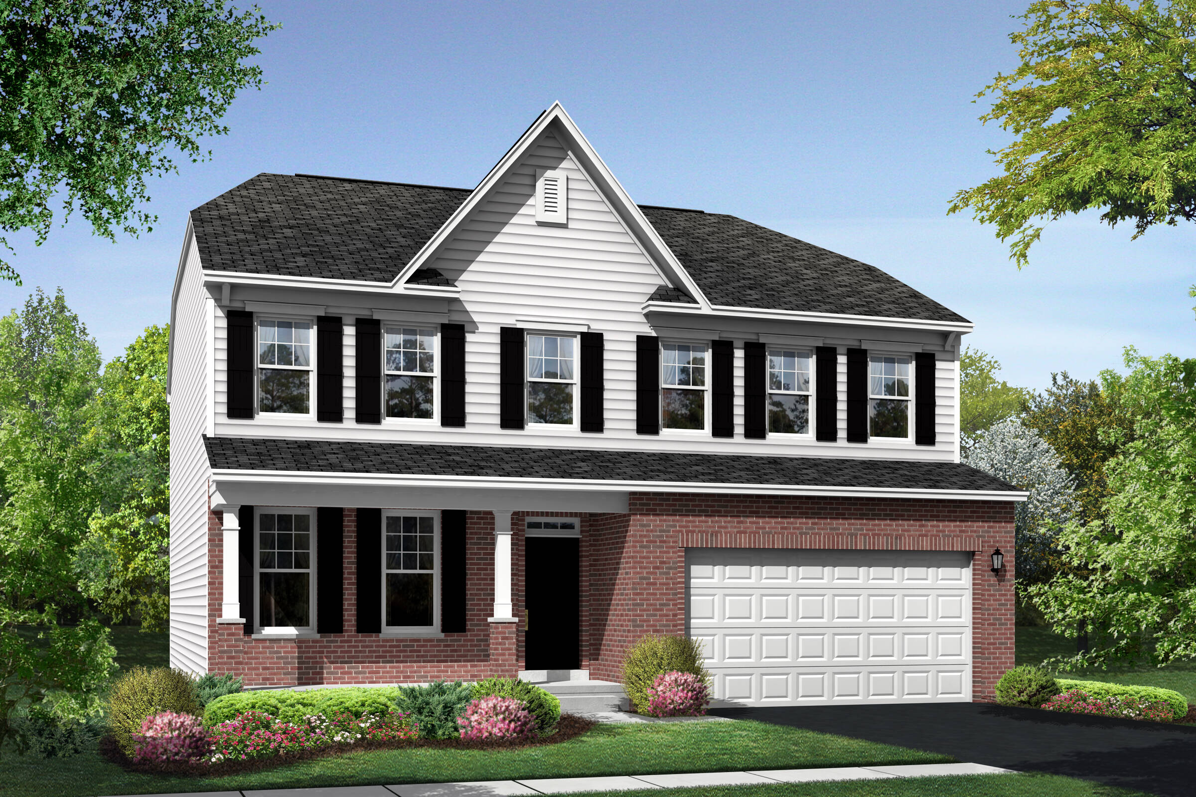Lancaster DB elevation  at Orchard Meadows