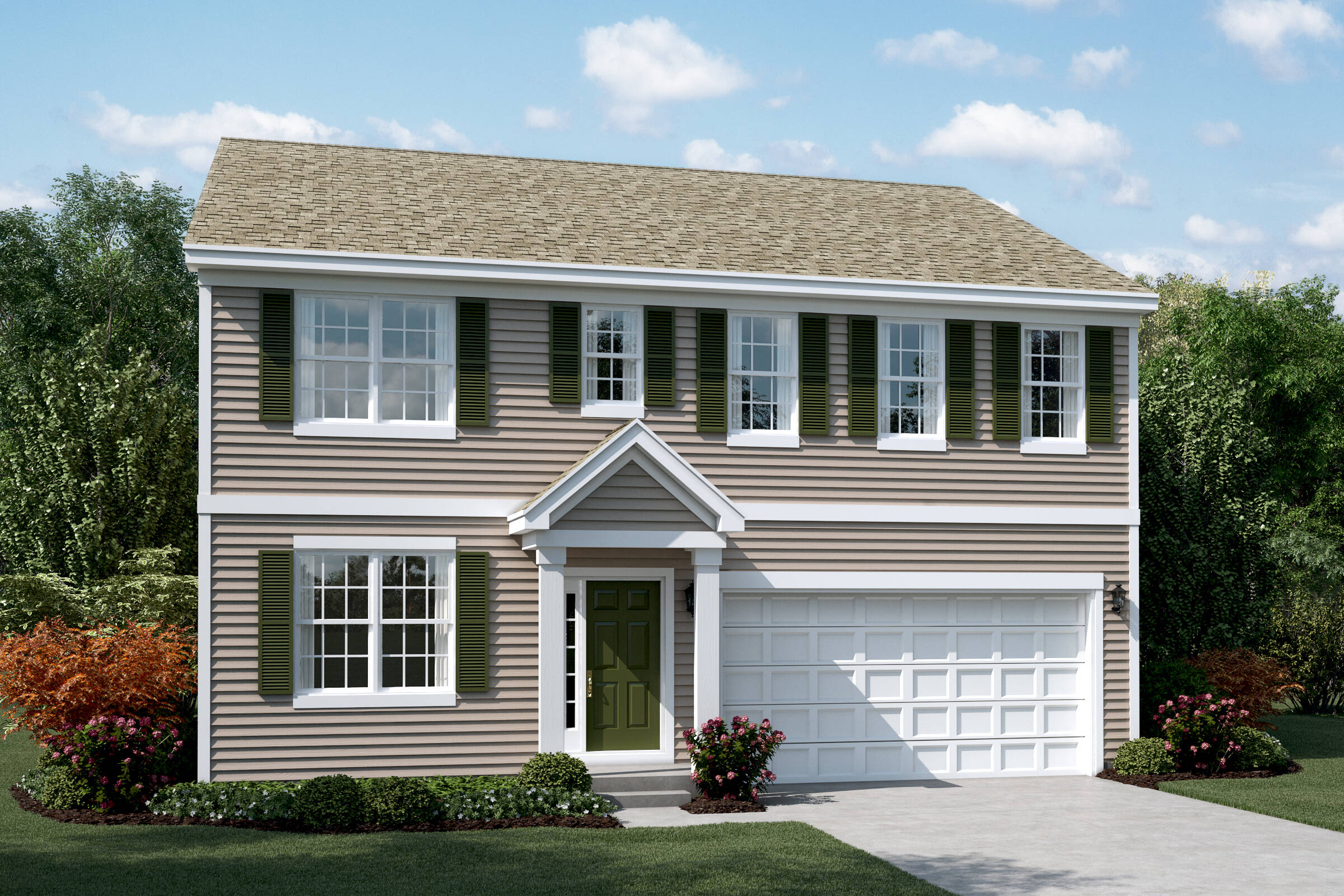 clover a elevation new homes in south elgin illinois