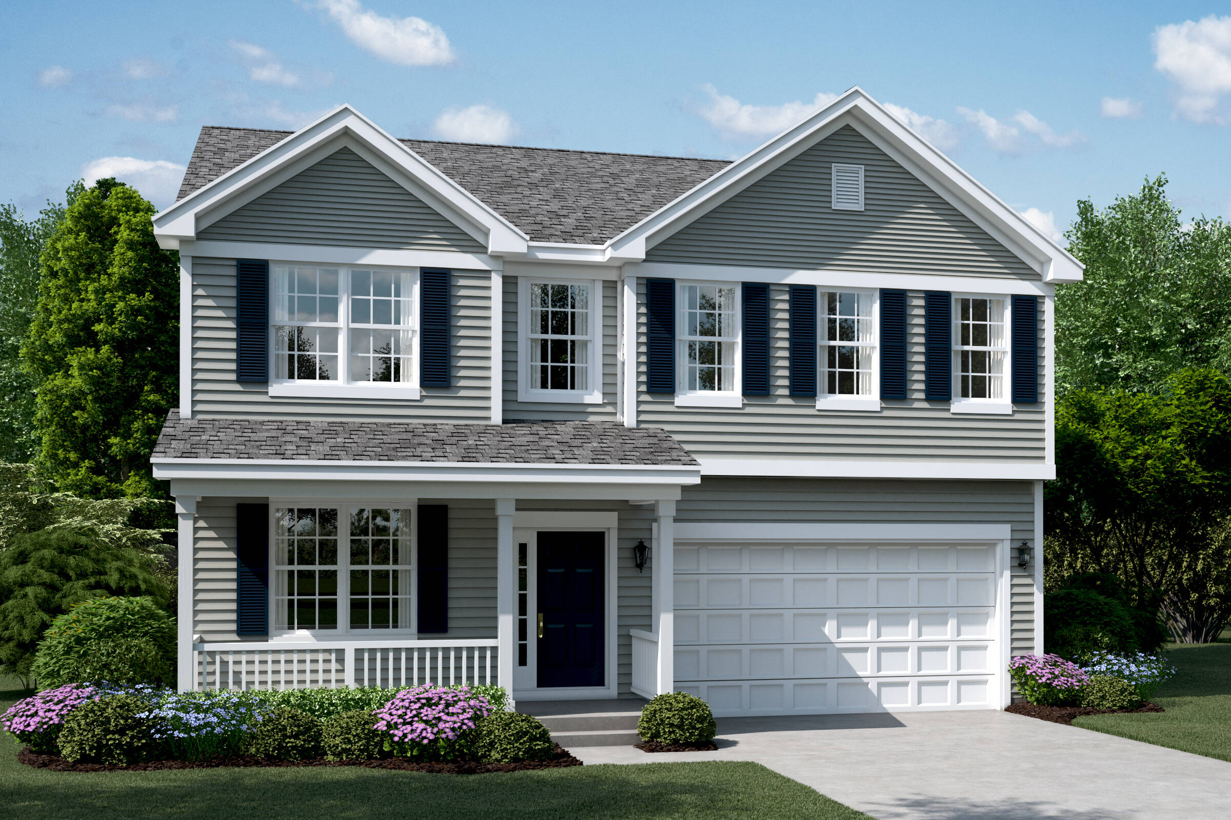 clover b elevation new homes in south elgin