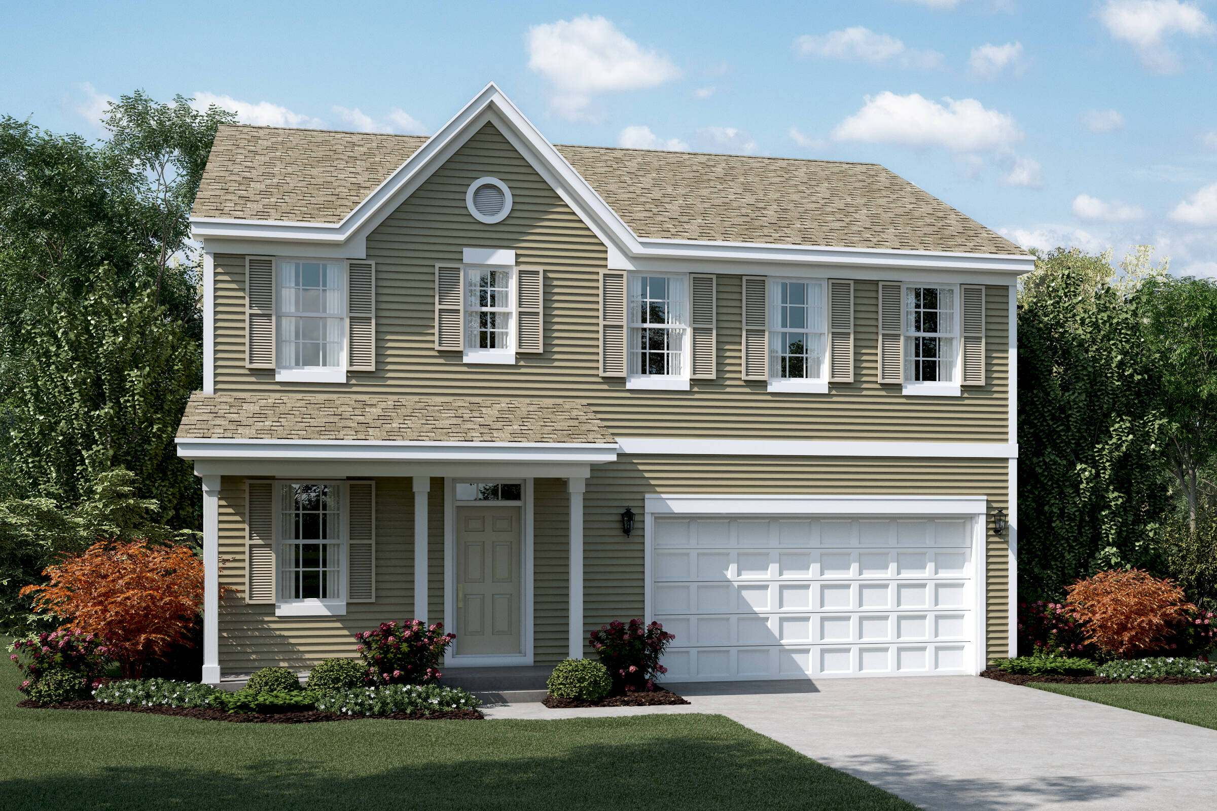 meadow a with porch new homes in south elgin illniois