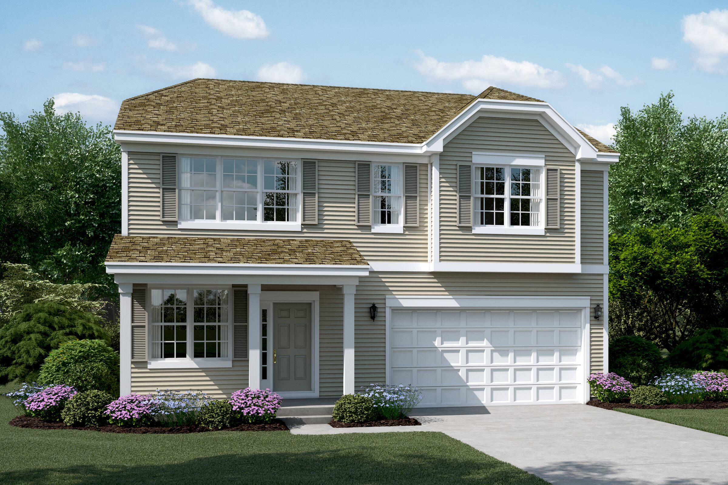 meadow b elevation new homes in south elgin