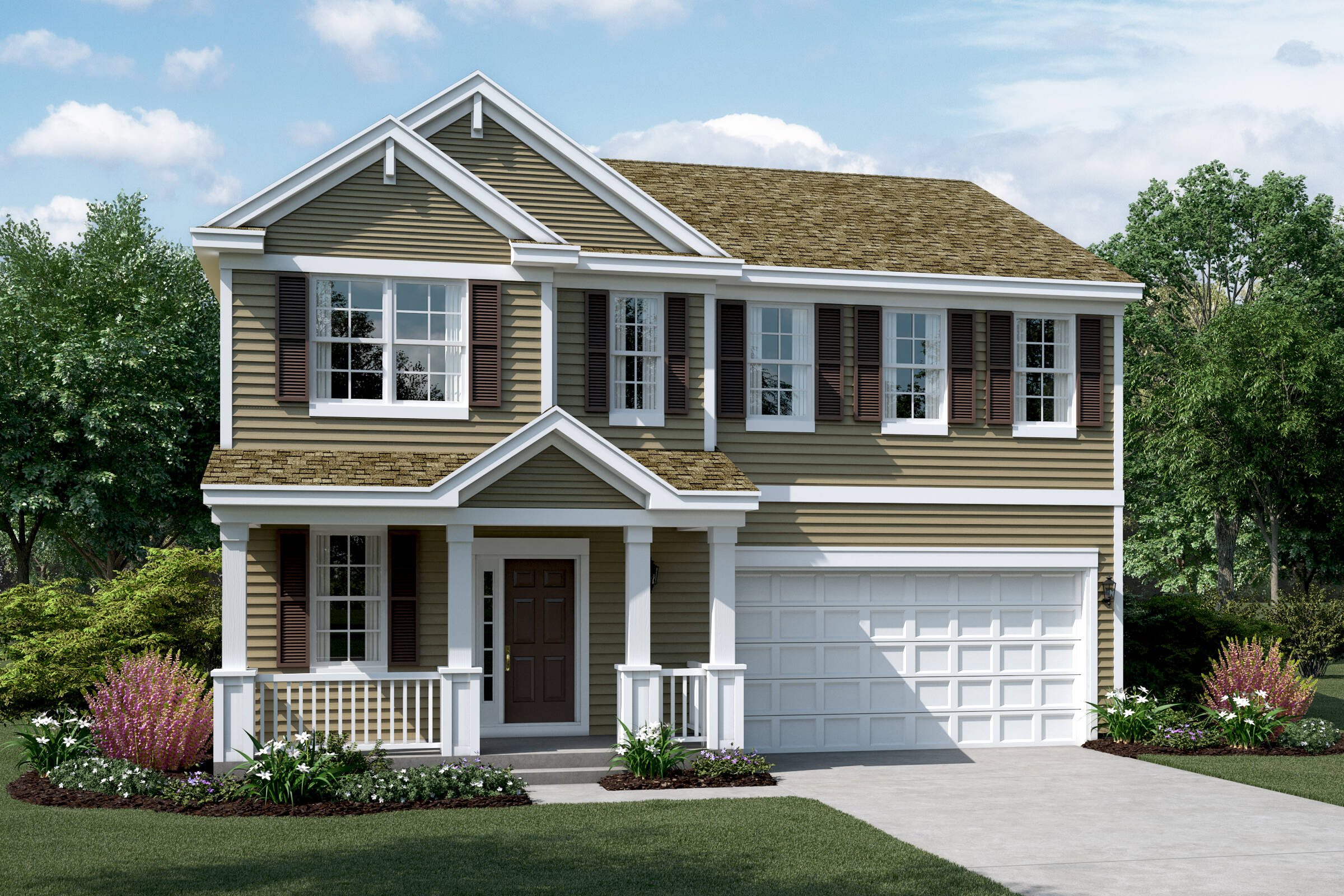 meadow c elevation new homes in south elgin illinois