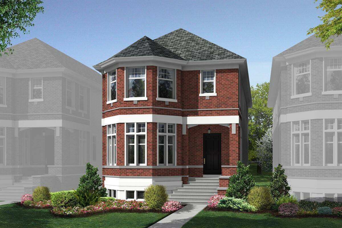 elevation D. Sauganash Glen   New Homes in Chicago  IL
