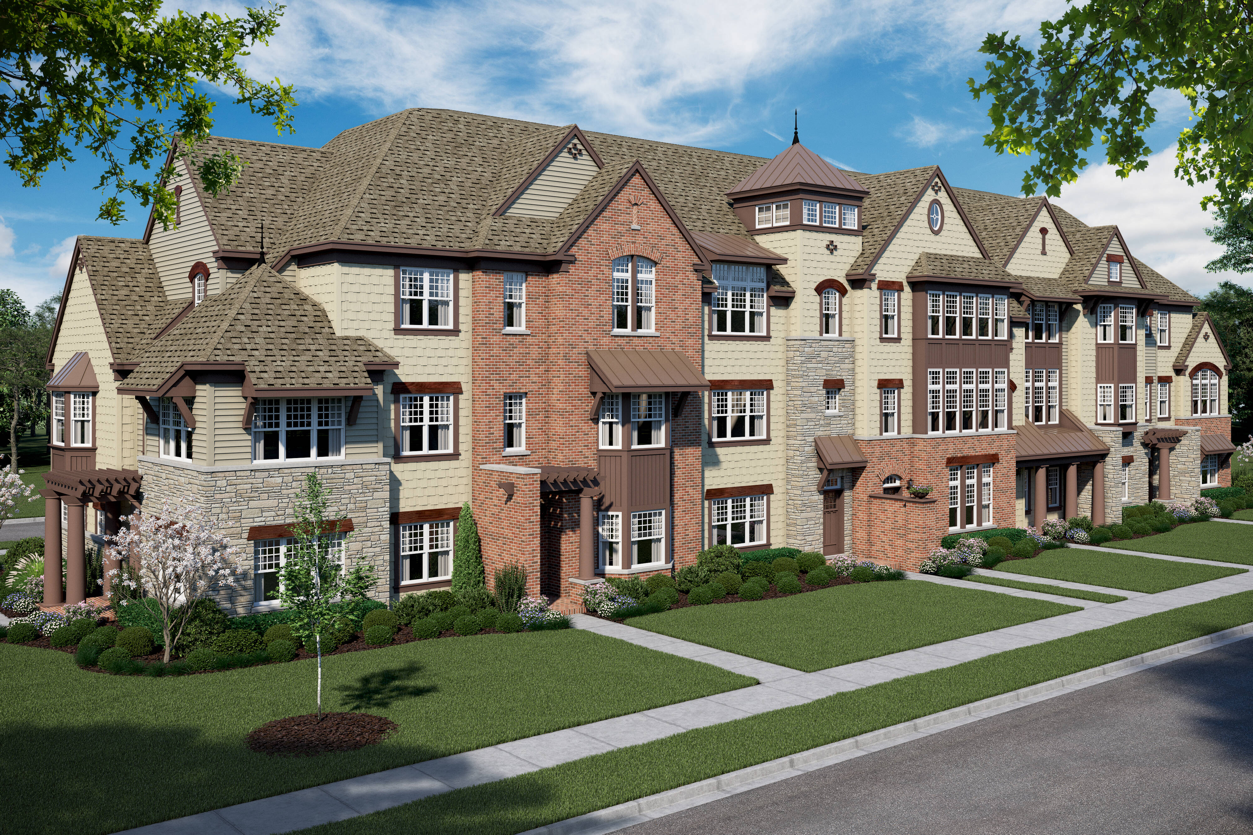 Parkside at Libertyville-7 Unit TH-Left Front High