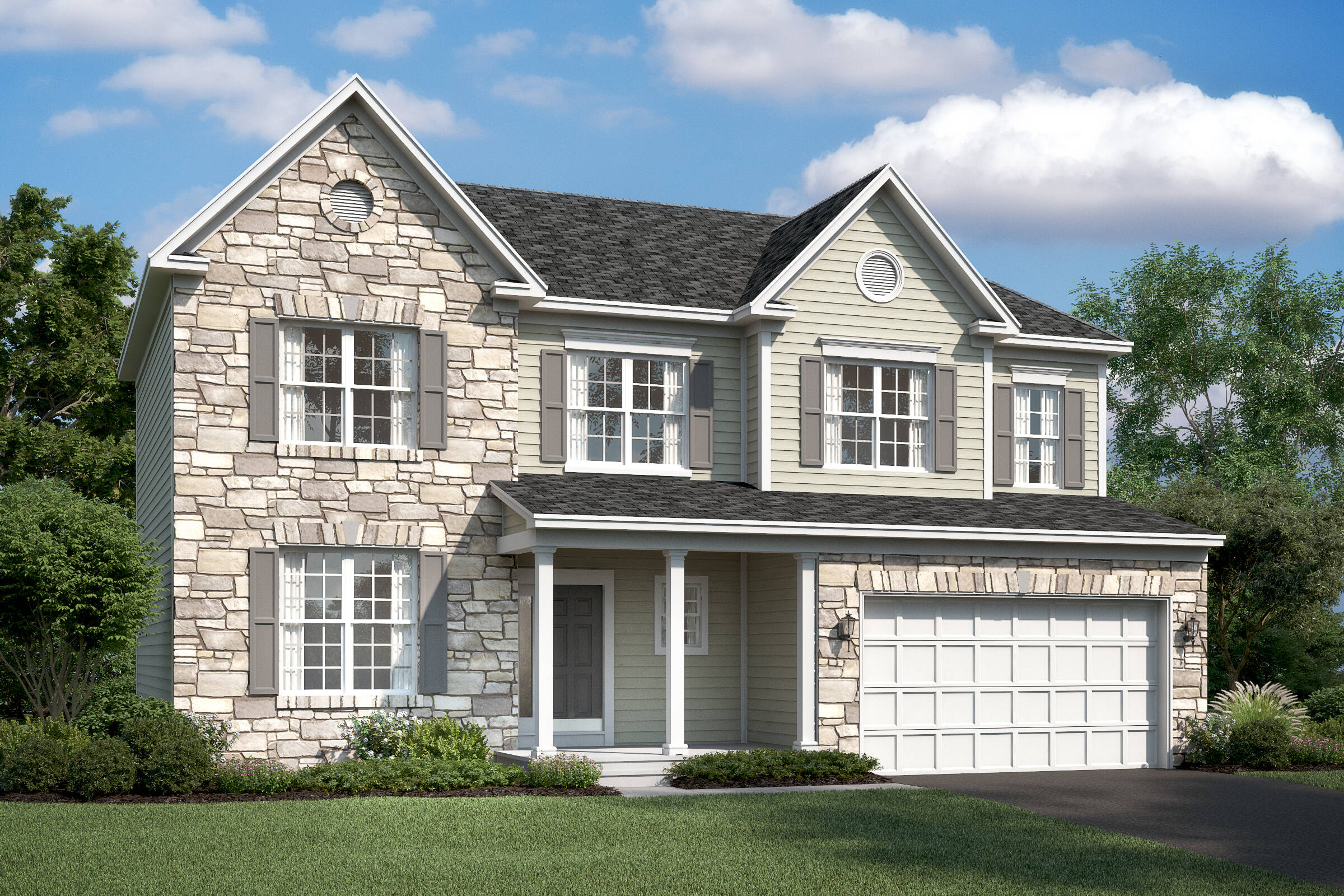 hancock III georgian new homes at stone mill in maryland