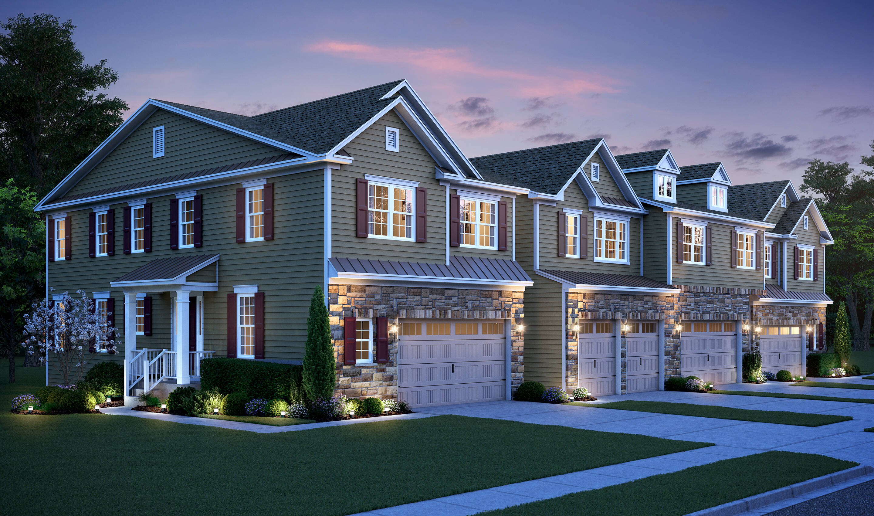 Swartmore D New Homes Morristown NJ · Bldg 14 4 Unit TH Elev