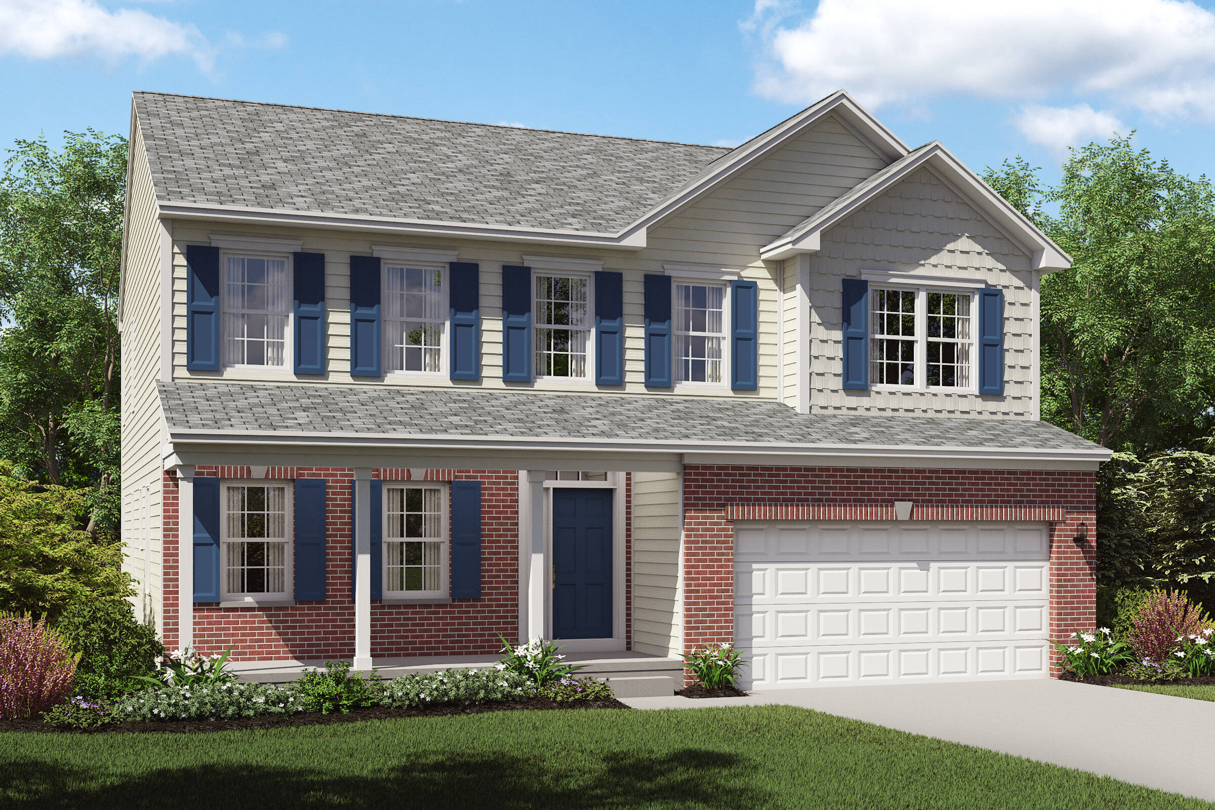 new home design brick exterior brantwood tallmadge ohio