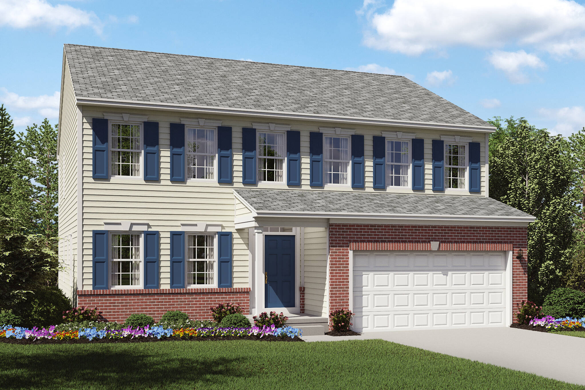 brick front new home colonial brantwood cleveland ohio