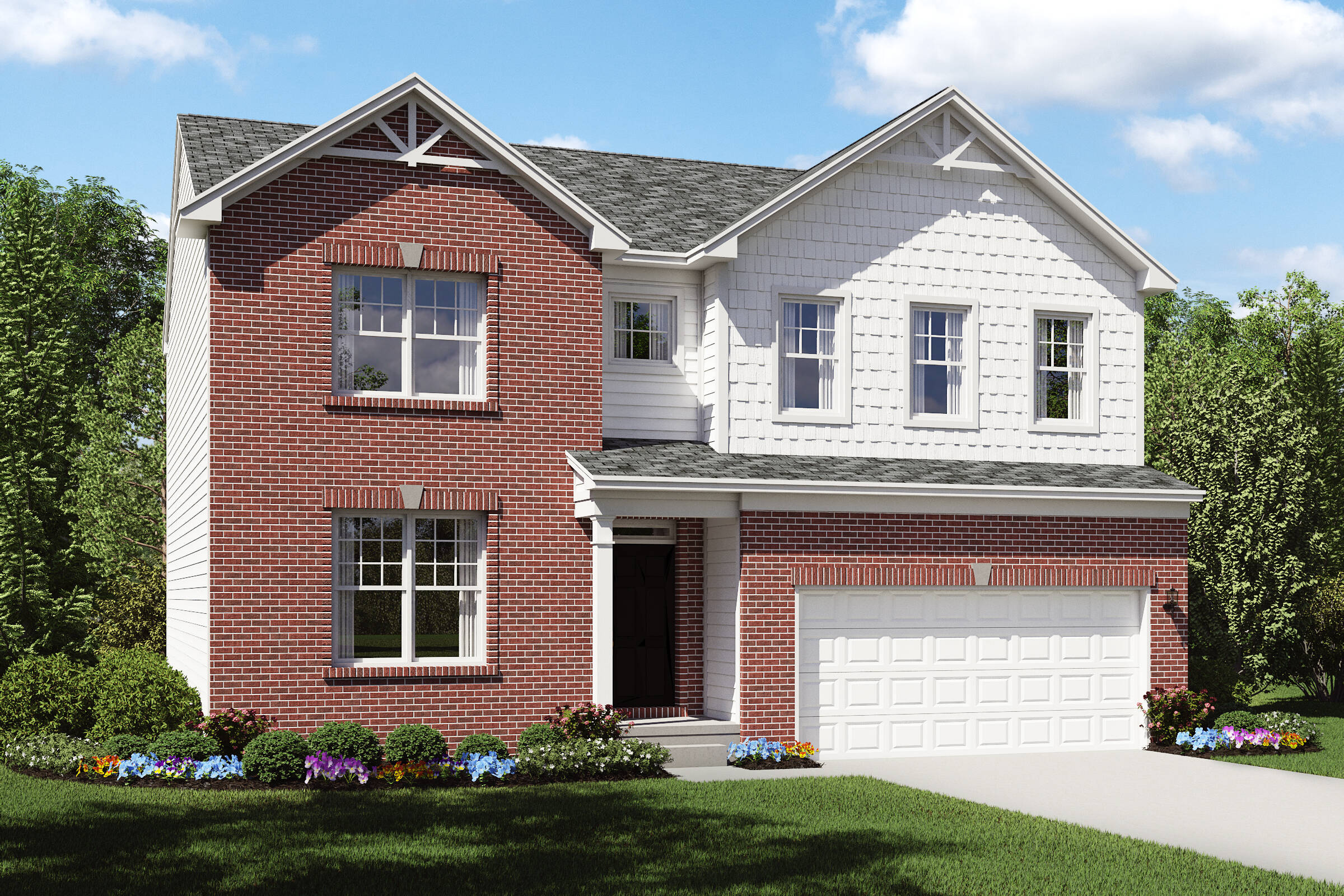 hanover d brick new homes cleveland k hovnanian