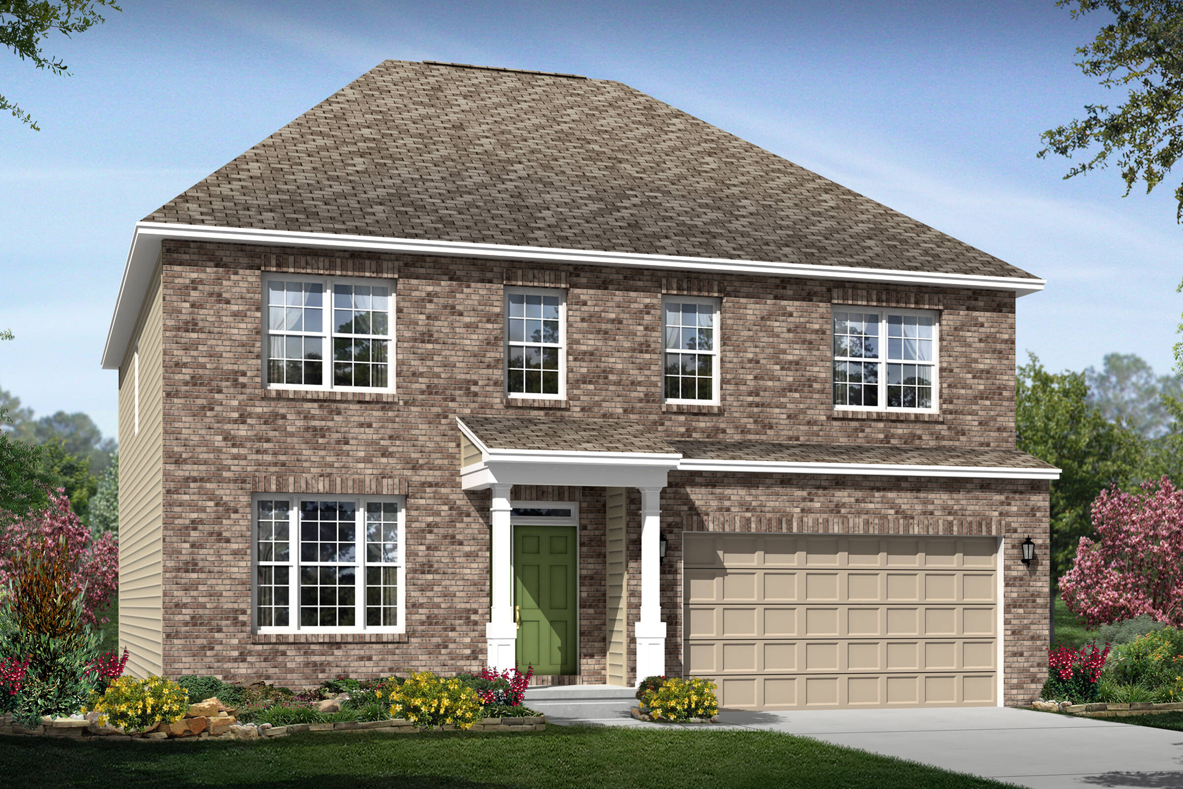 lexington f brick new home designs