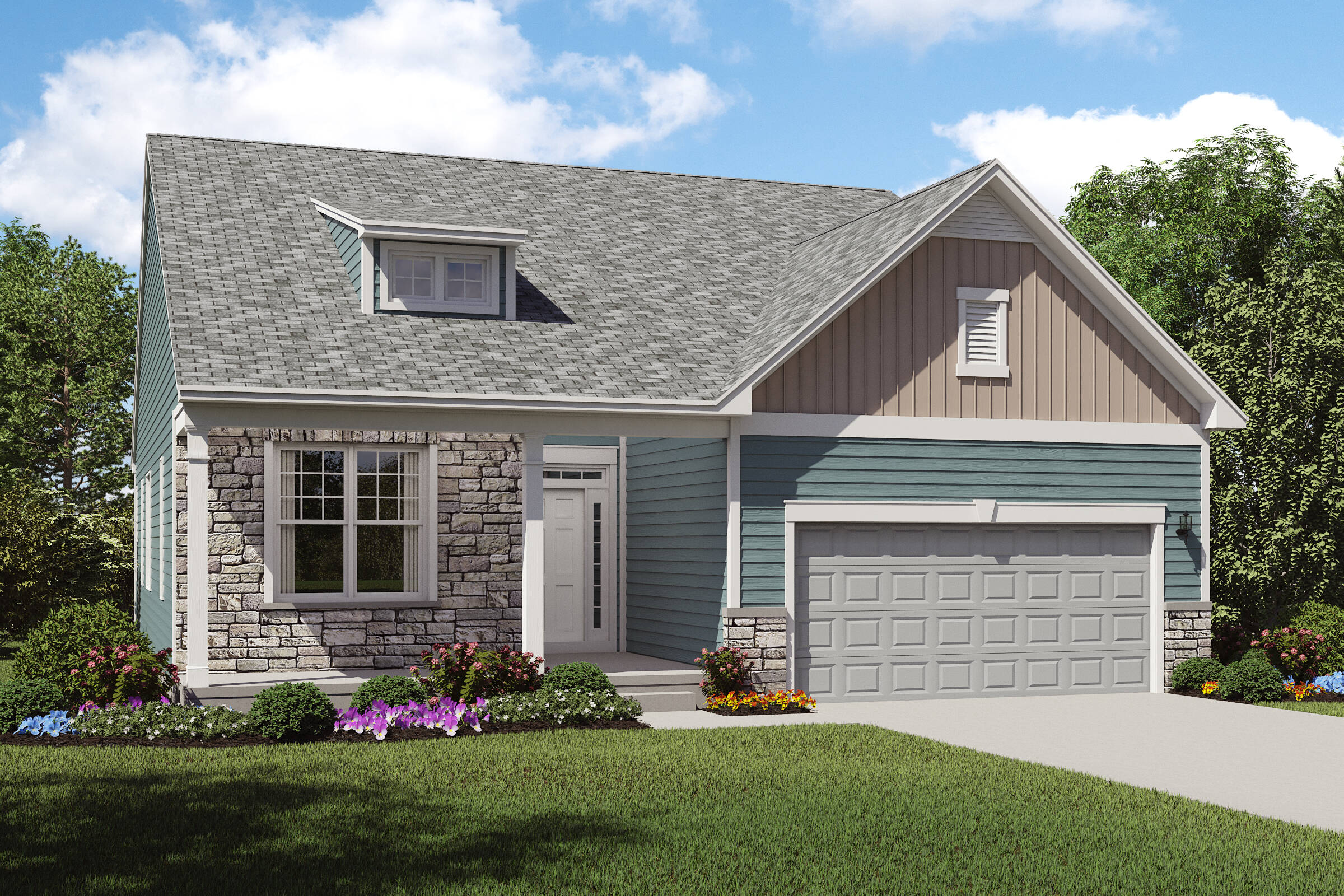 loren d2 stone new home ranch front cleveland ohio