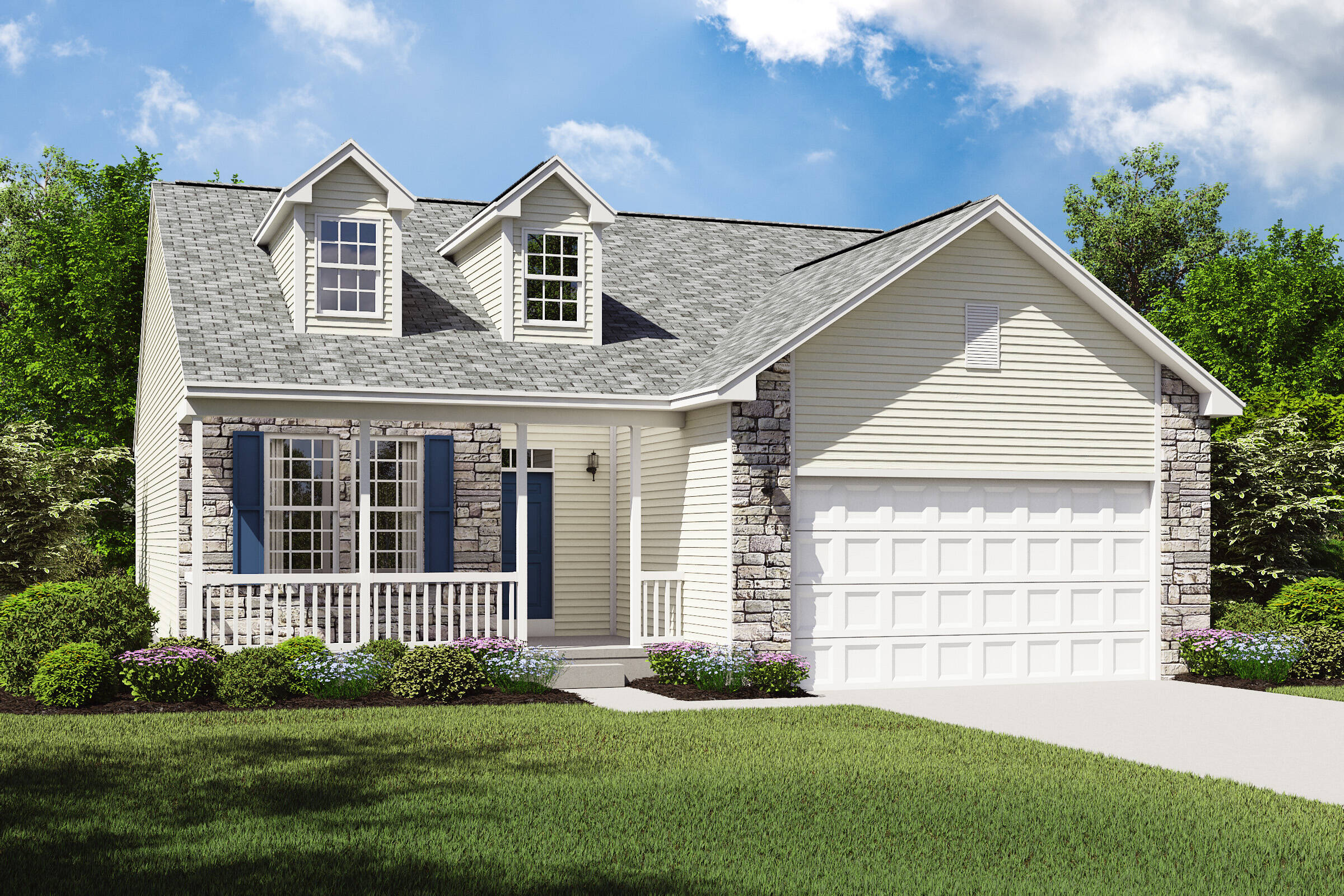 pinacle b new ranch home stone exterior cleveland ohio
