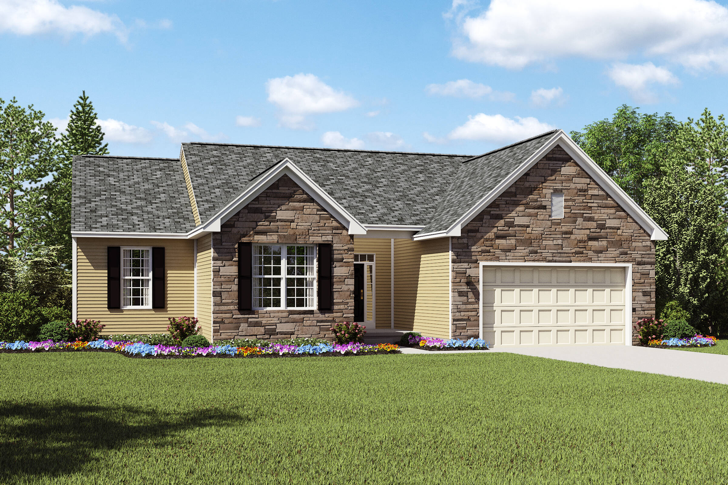 Sheffield II AT new single story home designs cleveland