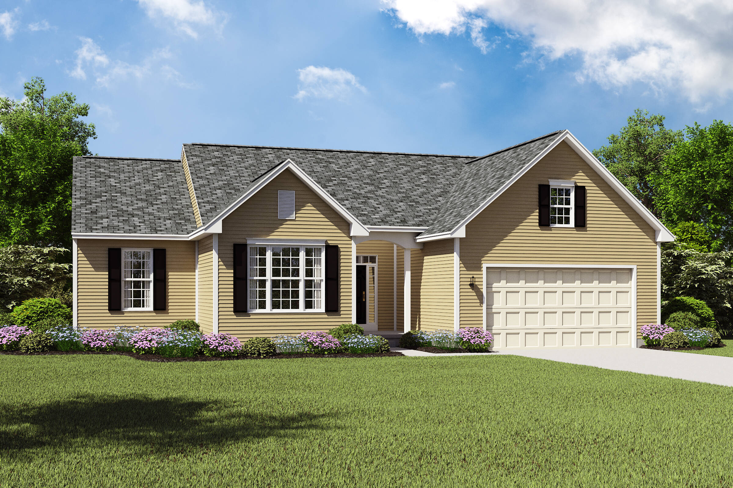 Sheffield II BS new ranch style homes northeast ohio