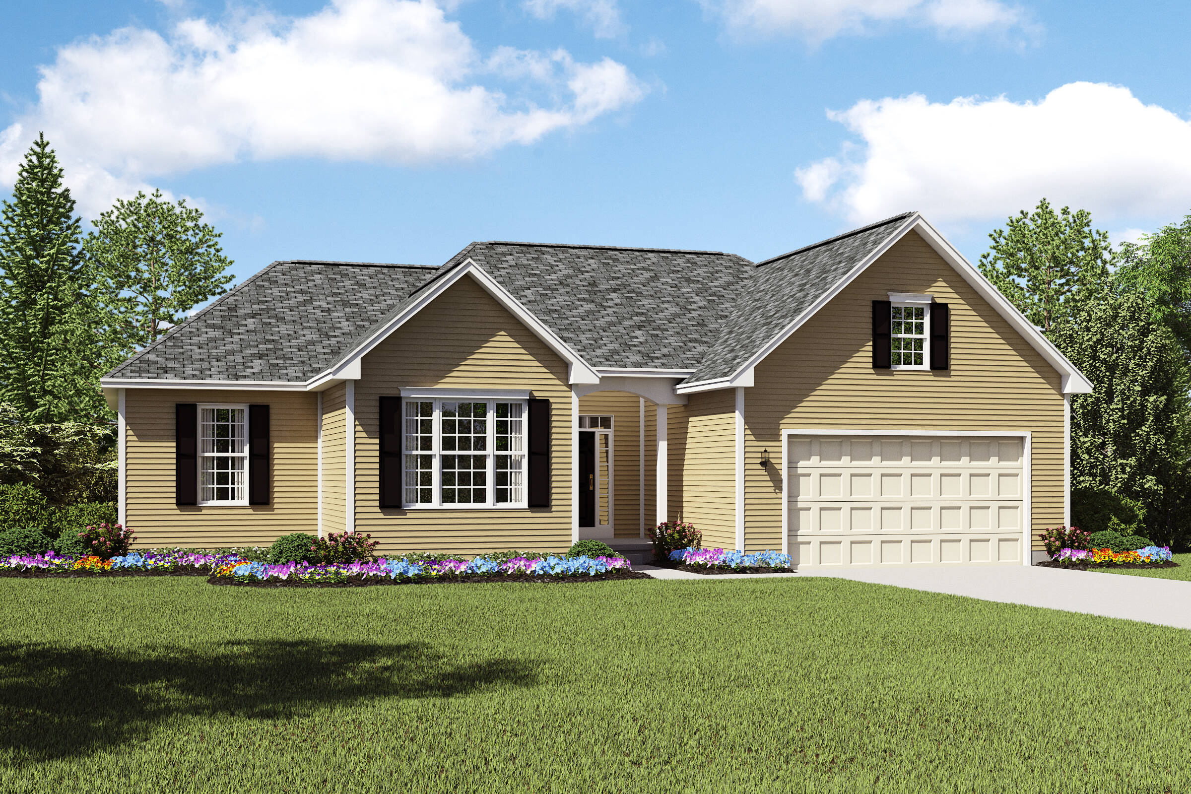 Sheffield II DS new homes ranch plans cleveland