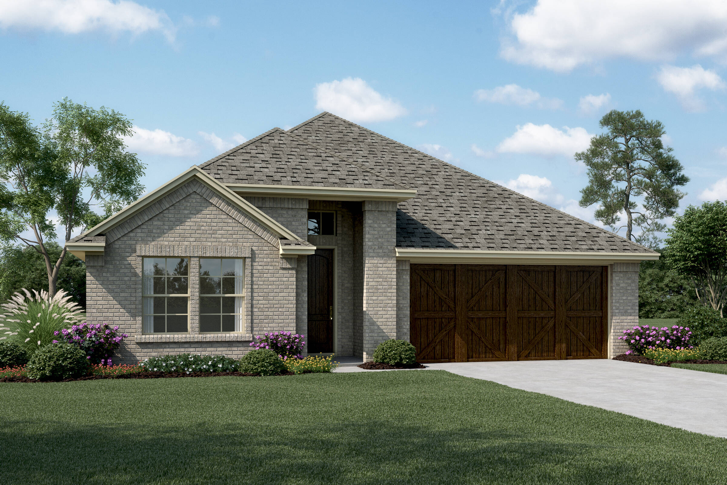 Lynnwood IV A Brick elev new homes in dallas texas