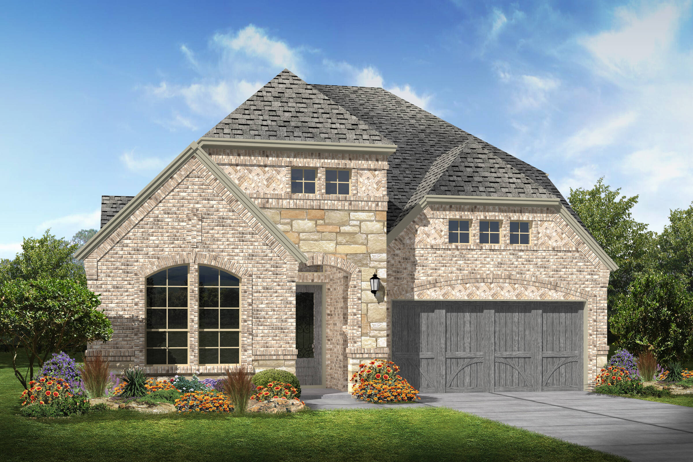 Bradbury III B Stone new homes dallas texas