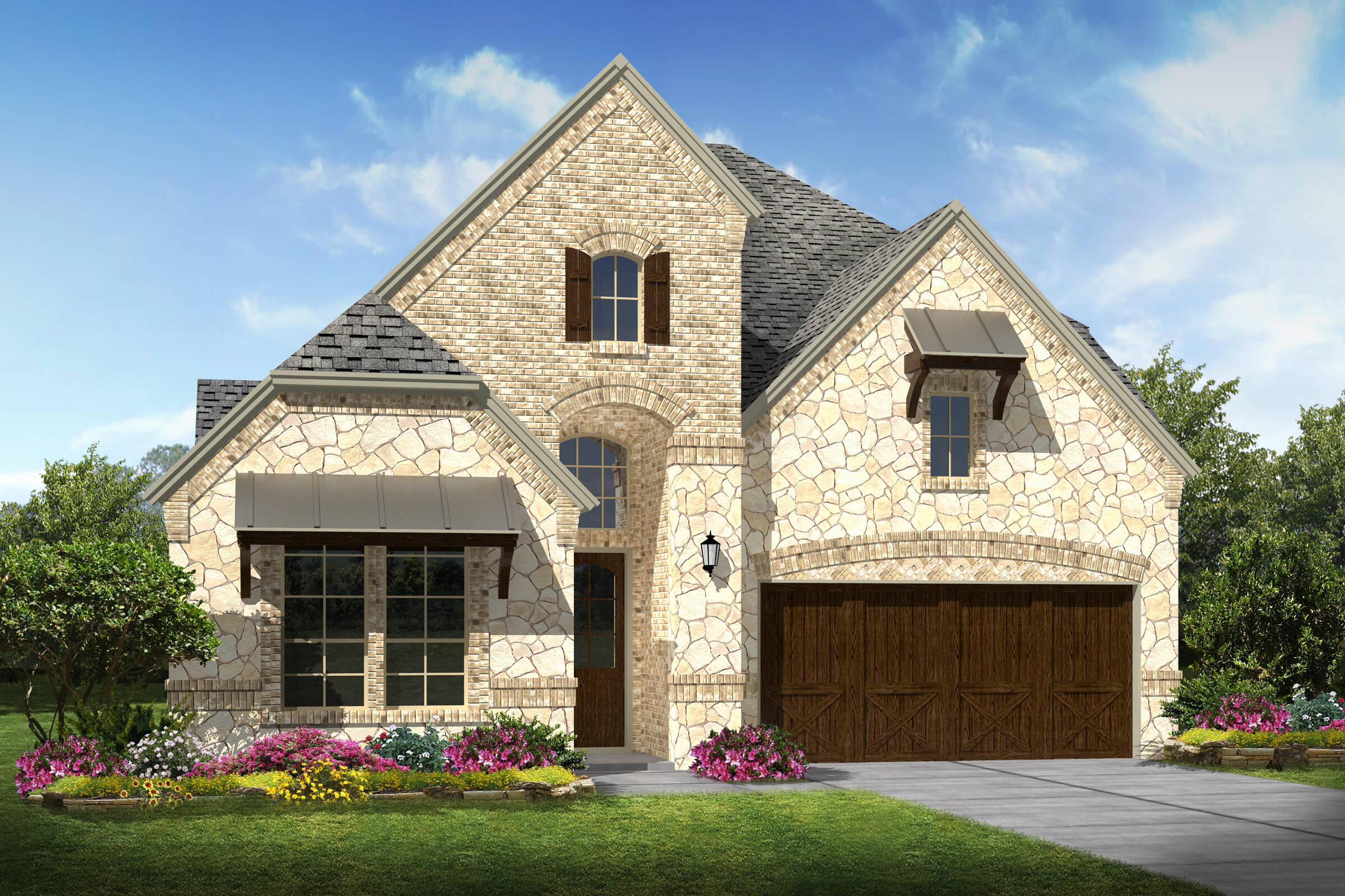 Bradbury III C Stone new homes dallas texas
