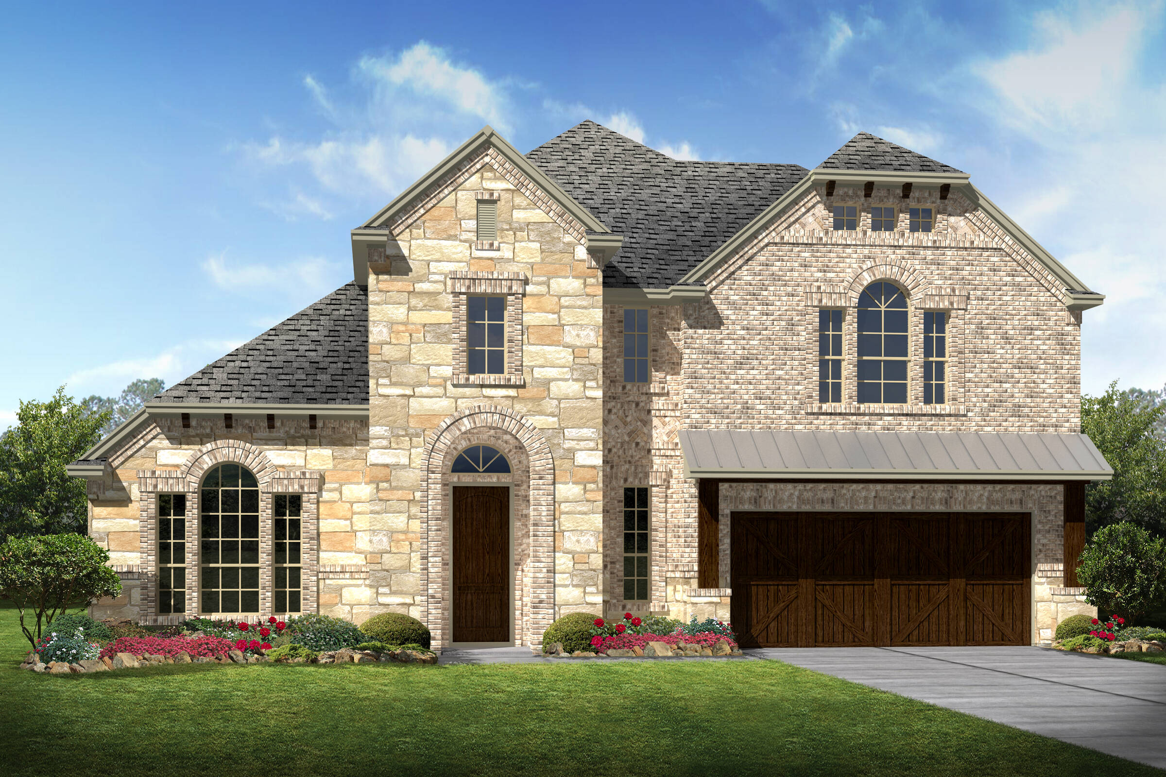 Kingswood II D Stone new homes dallas texas