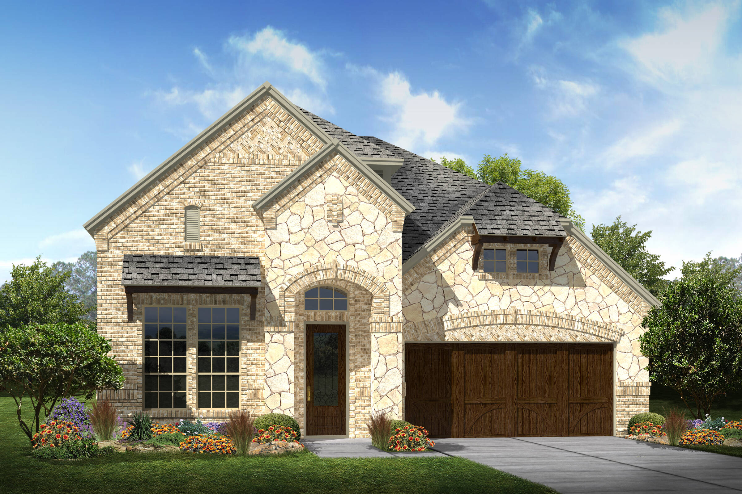 Langston III B Stone elev New Homes Near Dallas TX