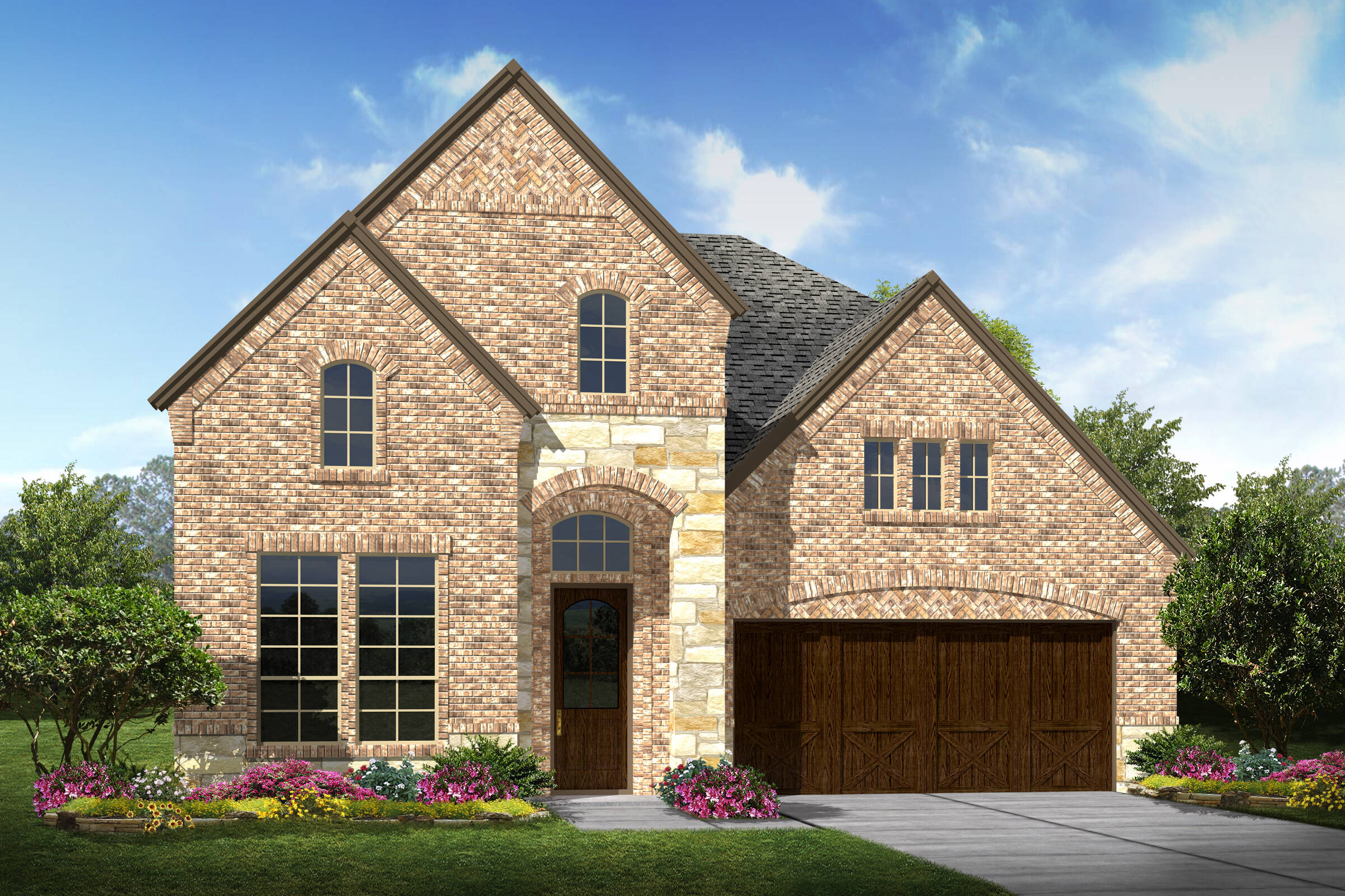 Langston III C Stone elev New Home Near Dallas TX