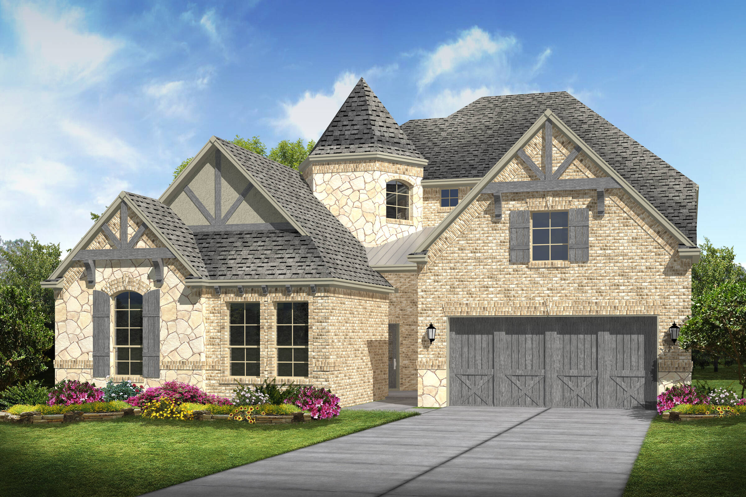 Meadowglen III C Stone new homes frisco tx