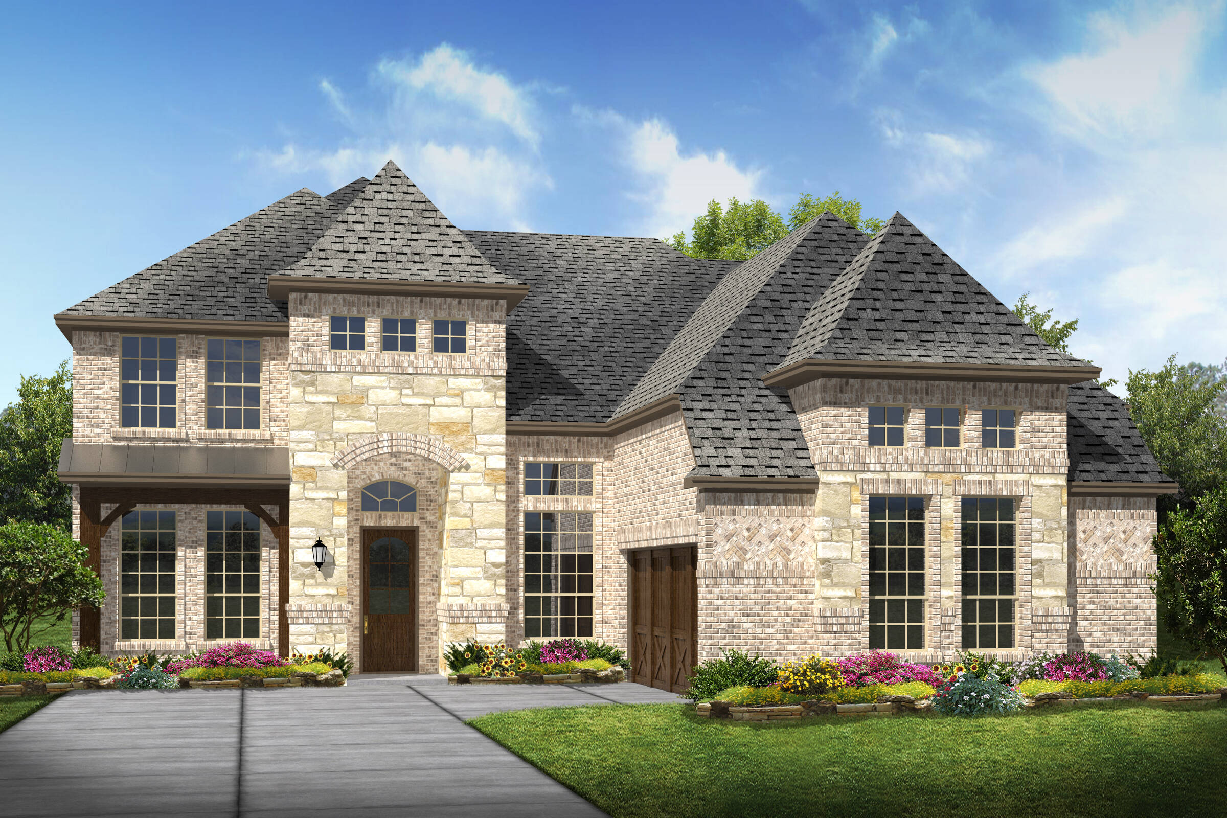 Prestondale IV L elev new homes in Dallas TX