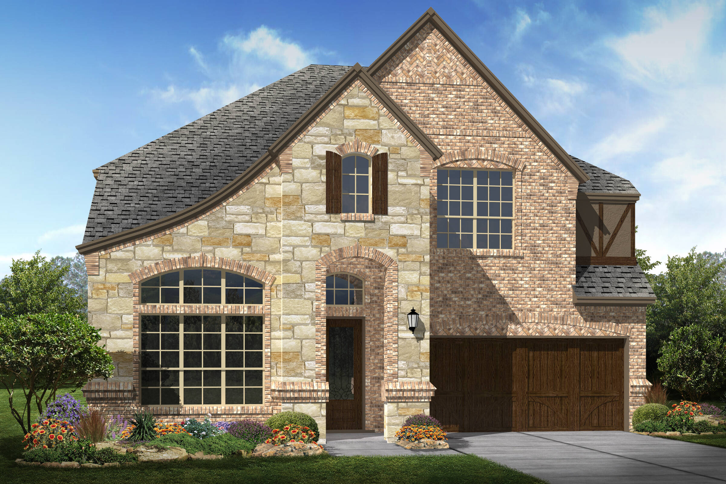 Riverside III B stone new homes Dallas texas