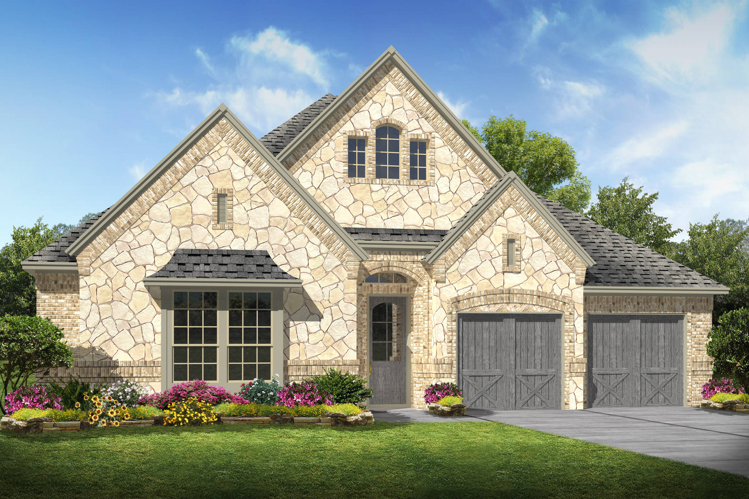 Southport XIII C Stone new homes frisco tx