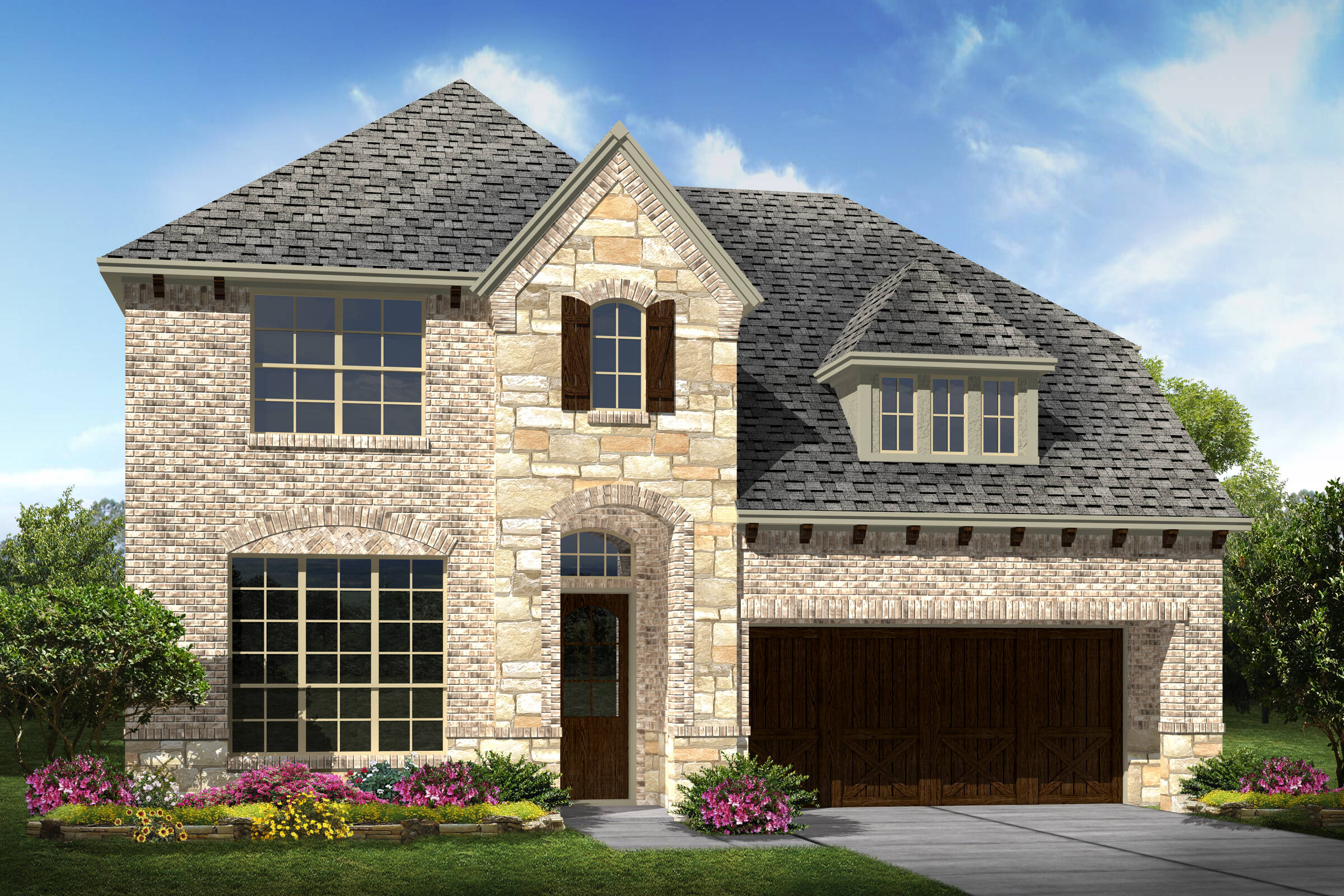Summerwood IV C Stone new homes dallas texas