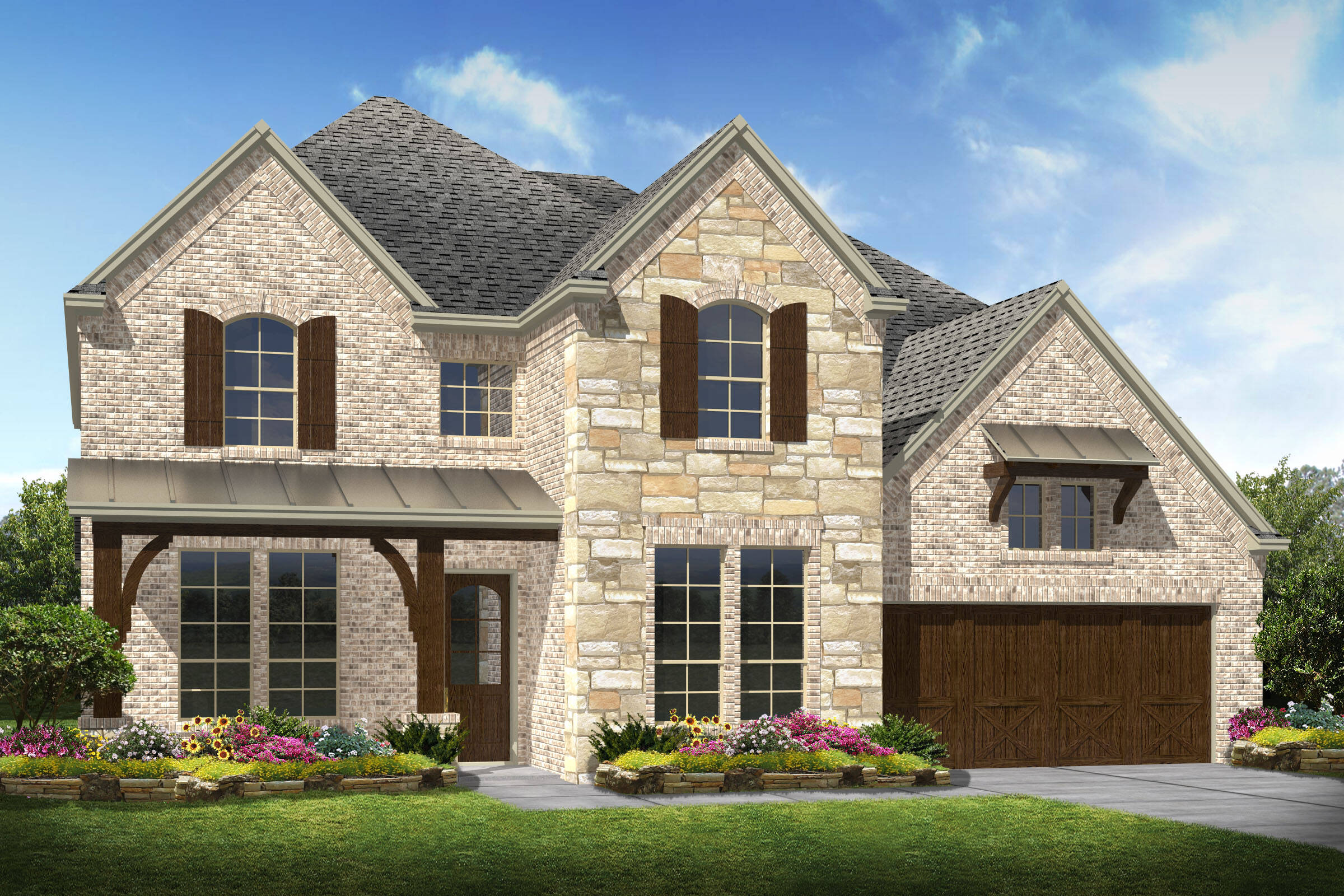 Westover X C Stone new homes frisco tx