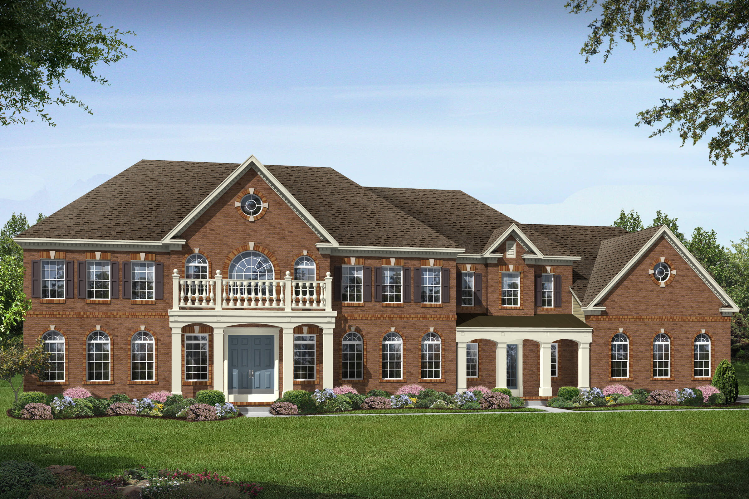 mt vernon traditional new homes at crooked creek