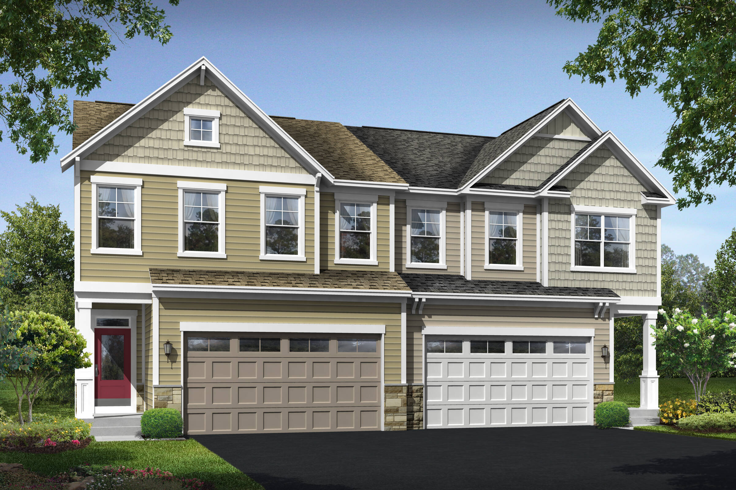 roanoke II a b new homes at villas at wellspring in virginia