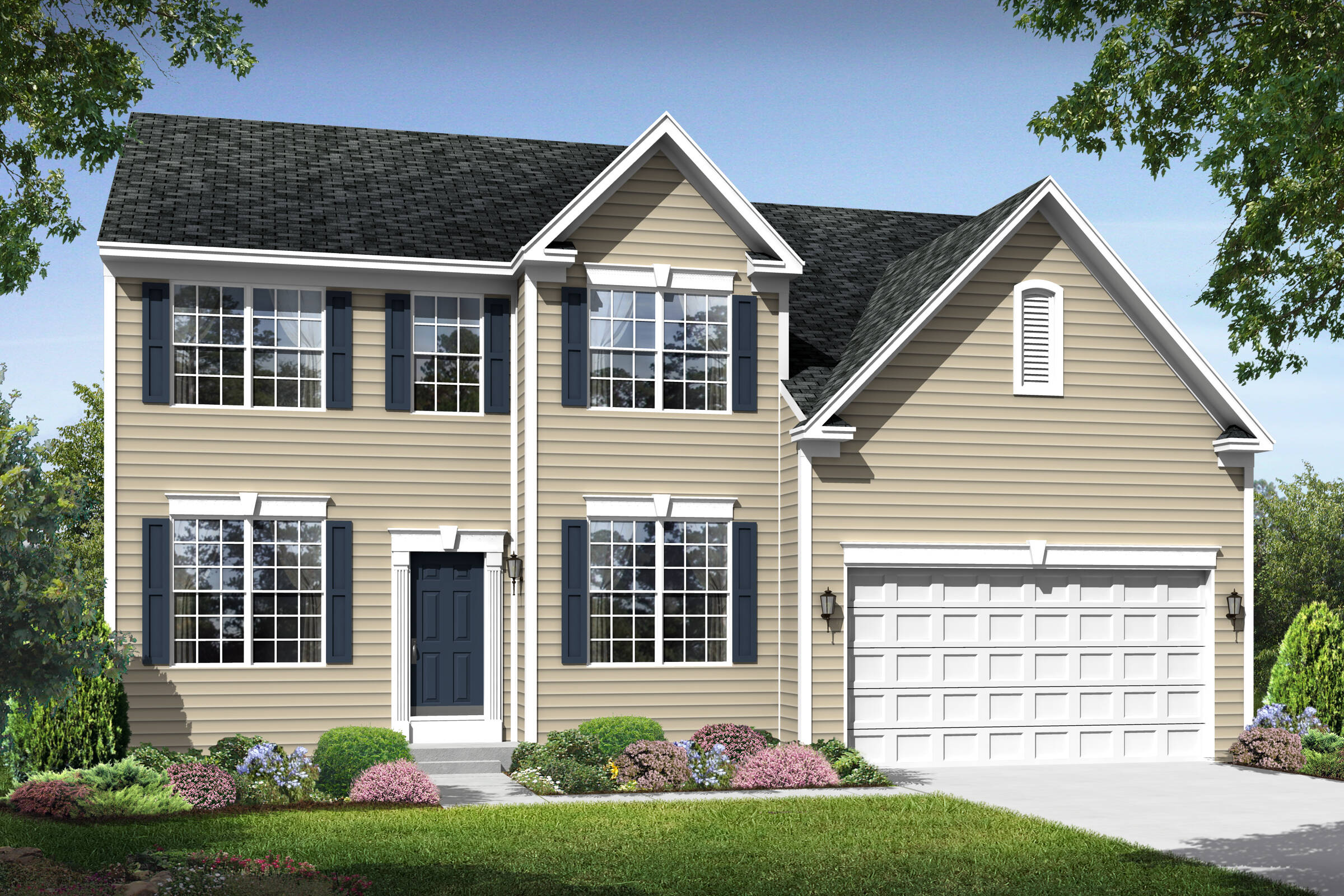 maryland II traditional new homes at shenandoah springs in west virginia