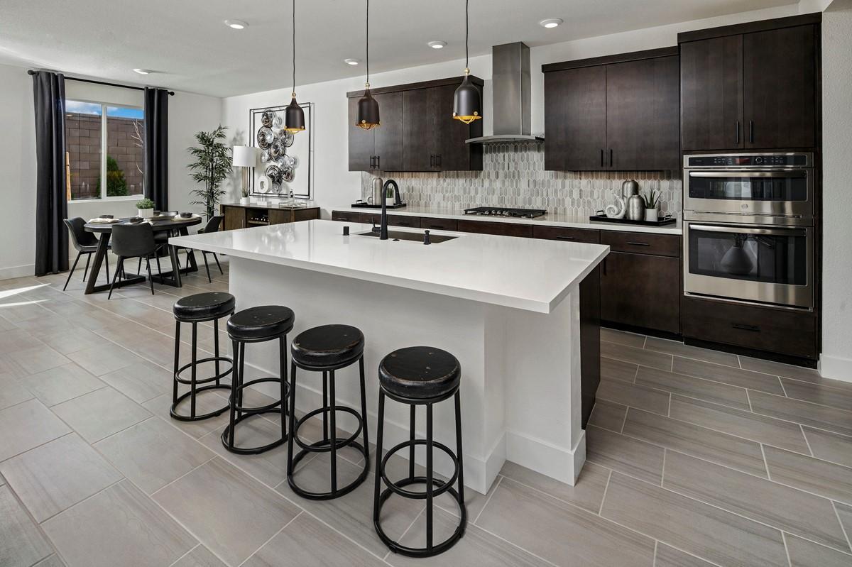 61516_Encantada at Vineyard Terrace_Evergreen_Evergreen Model Interior Of Kitchen _ Dining Area