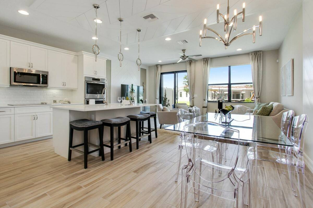 arabella enclave dining kitchen great room new homes in boca raton florida