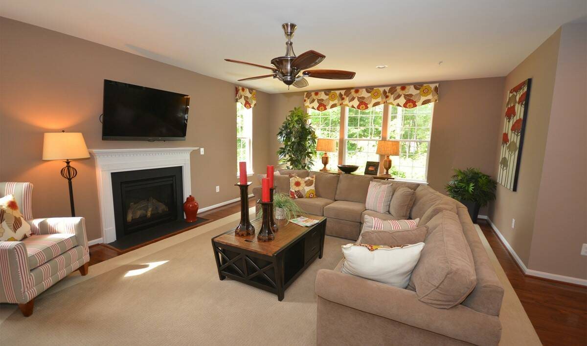 wedgewood family room new homes at eden terrace