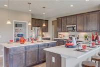 kitchen with island and granite countertops aurora ohio